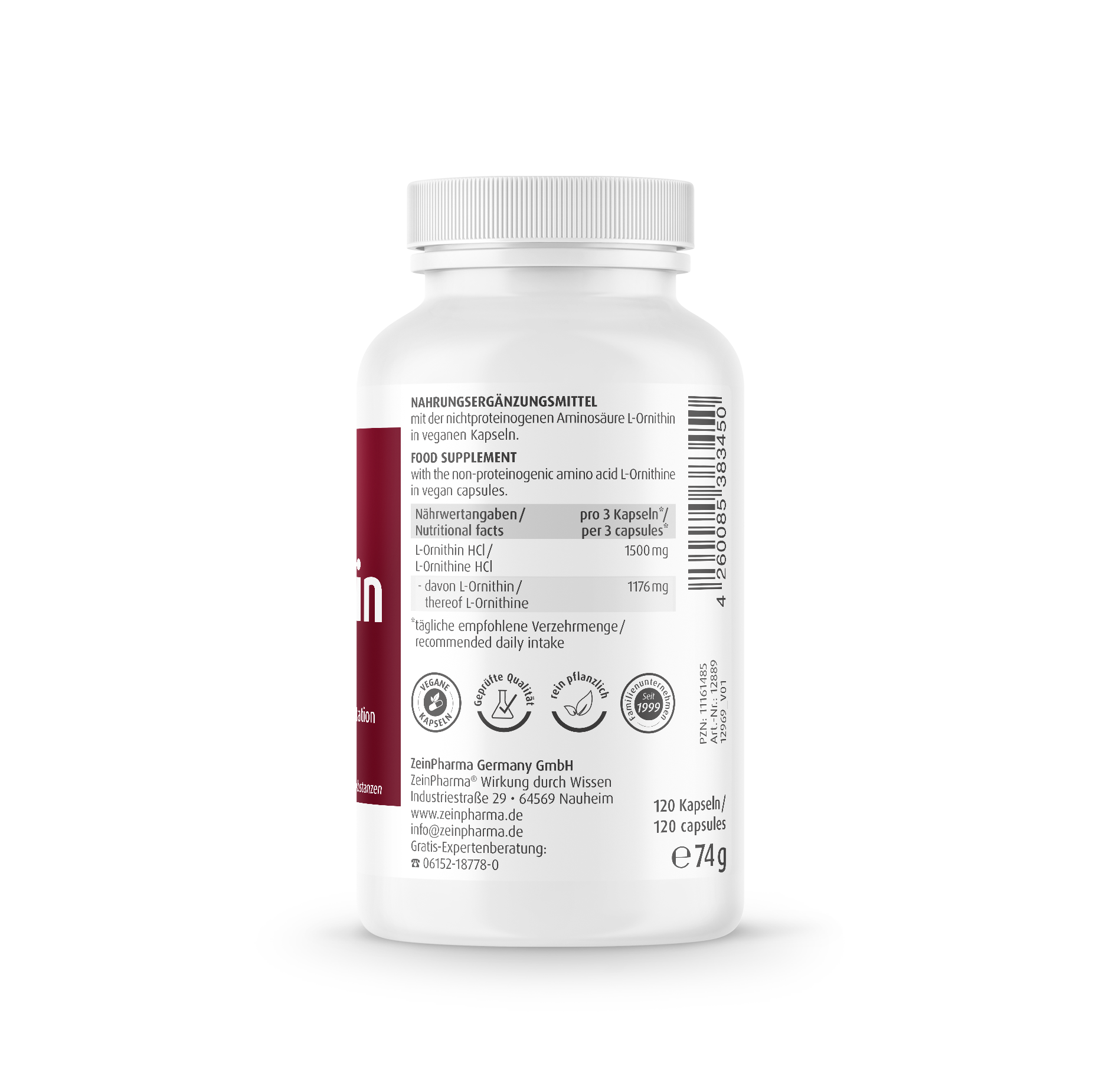 L-Ornithin 500 mg