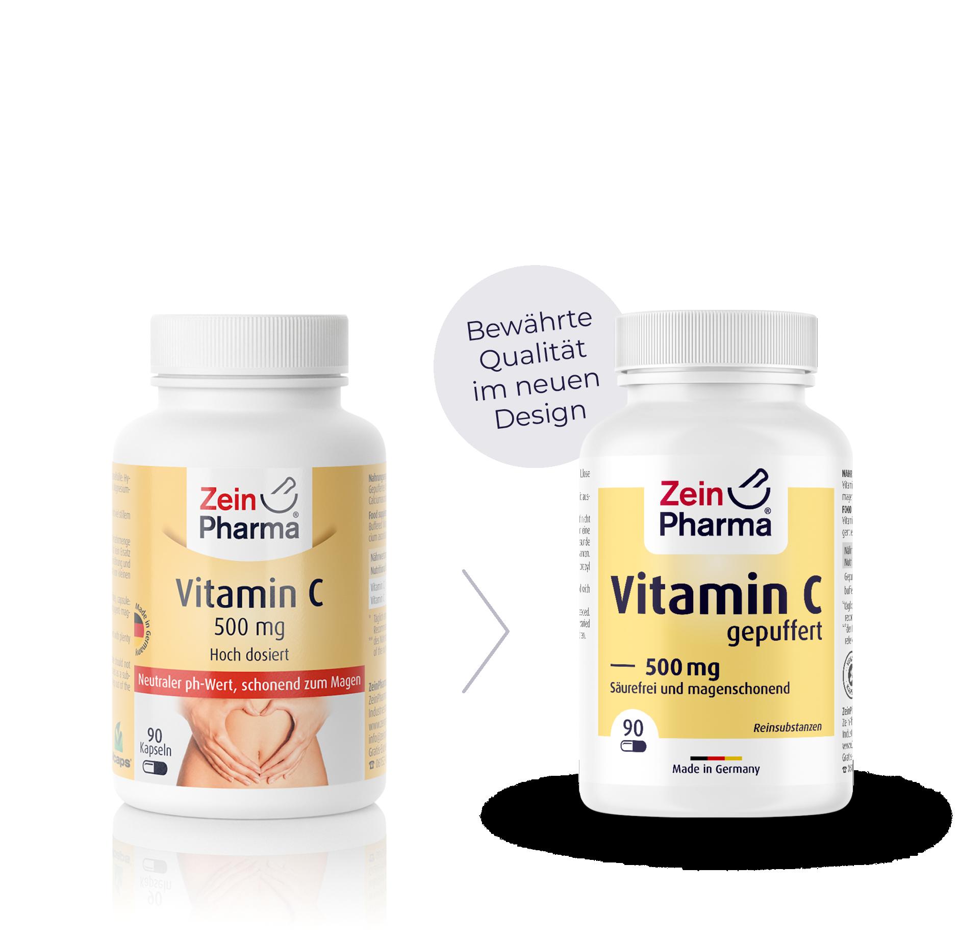 Vitamin C gepuffert 500 mg Kapseln