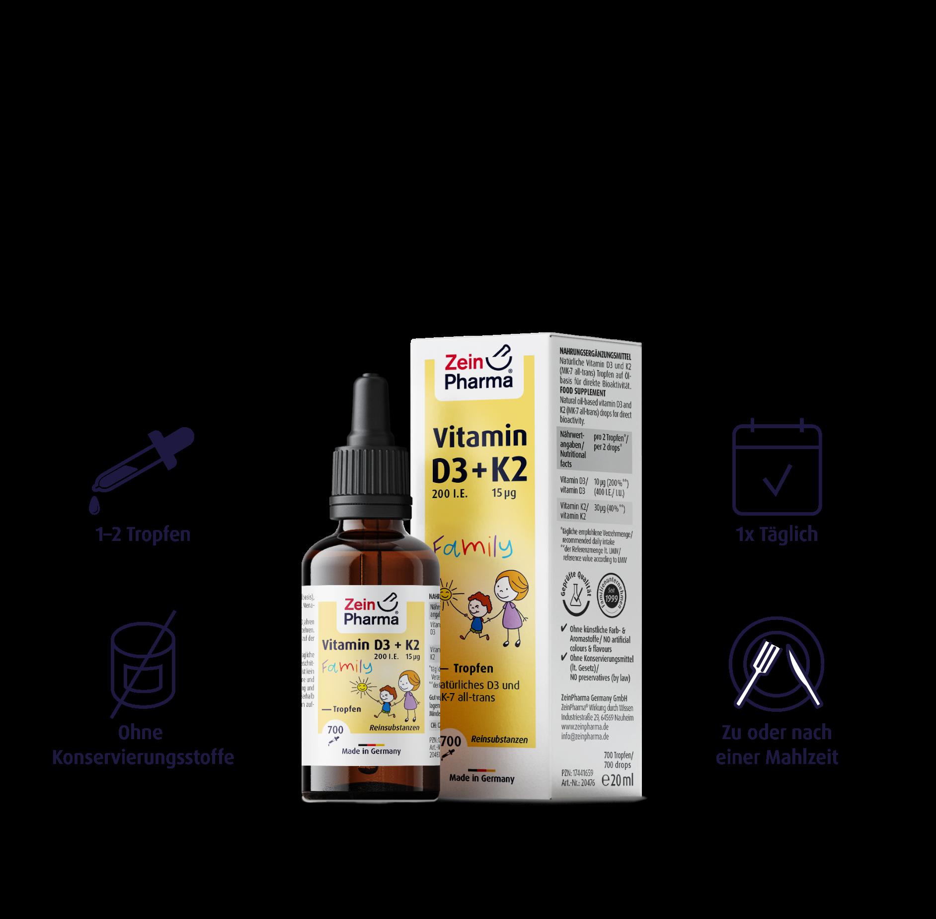 Vitamin D3 + K2 MK-7 Family Tropfen
