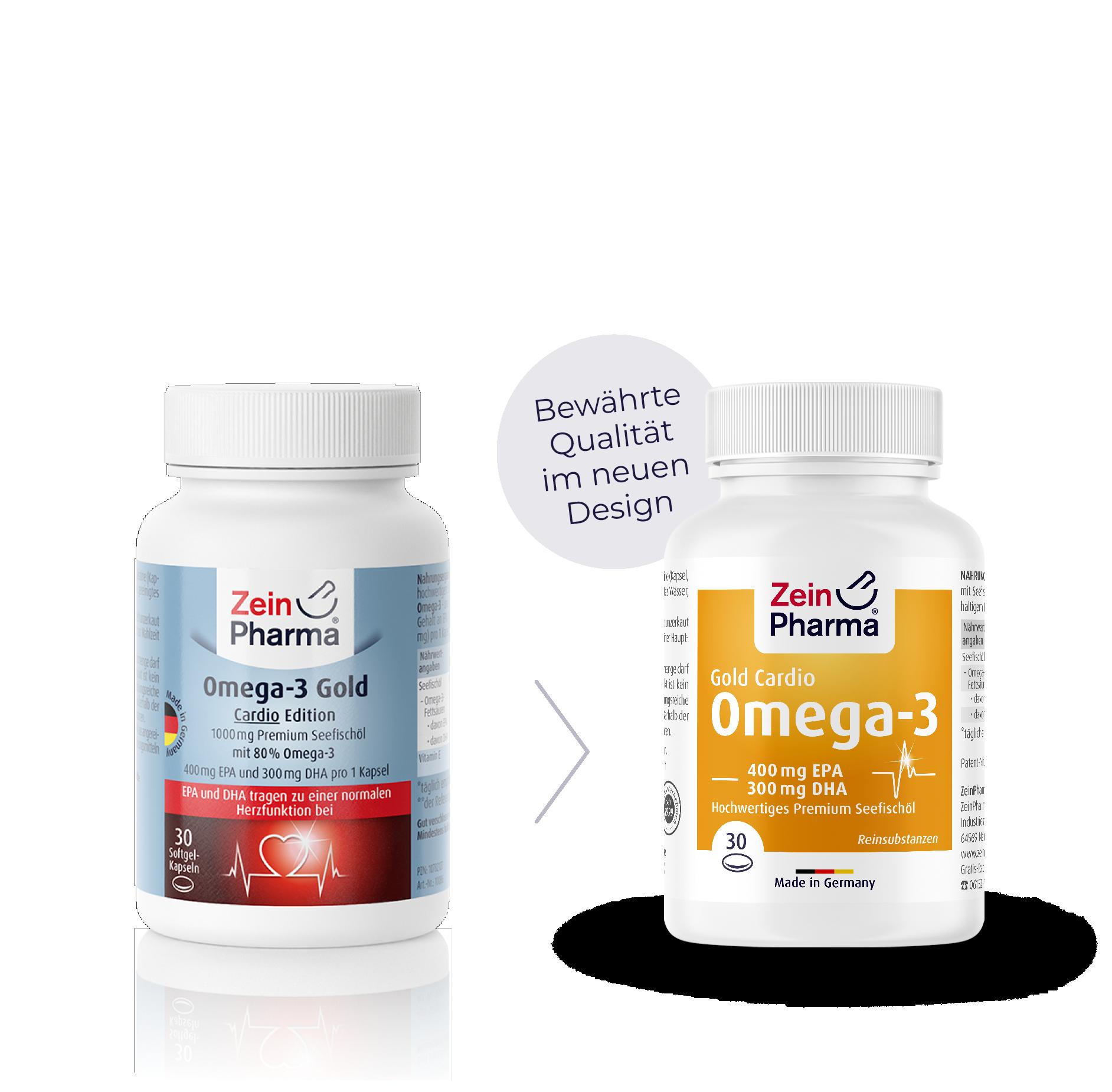 Omega-3 Gold Softgel-Kapseln - Cardio Edition
