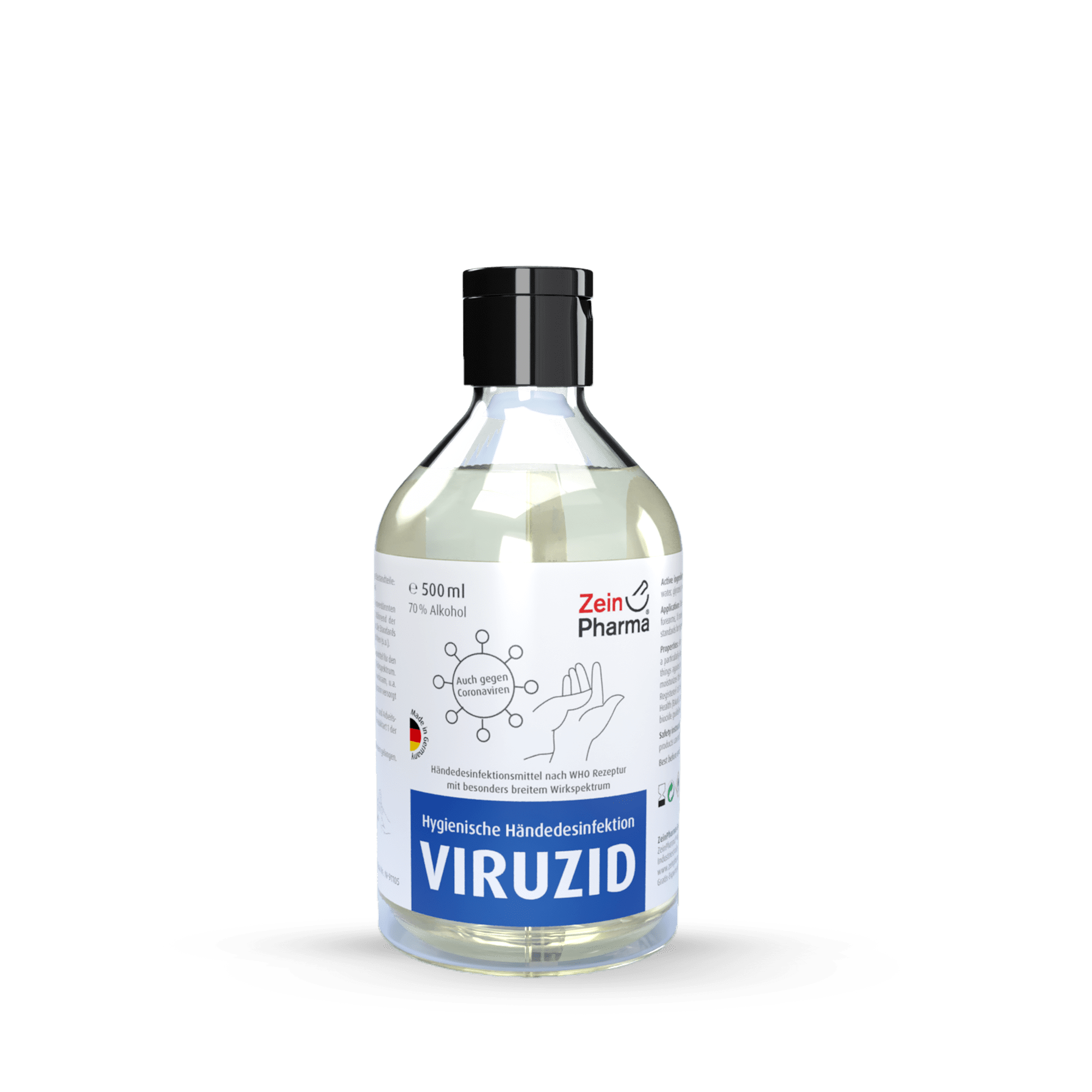 Händedesinfektionsmittel WHO Rezeptur, begrenzt viruzid
