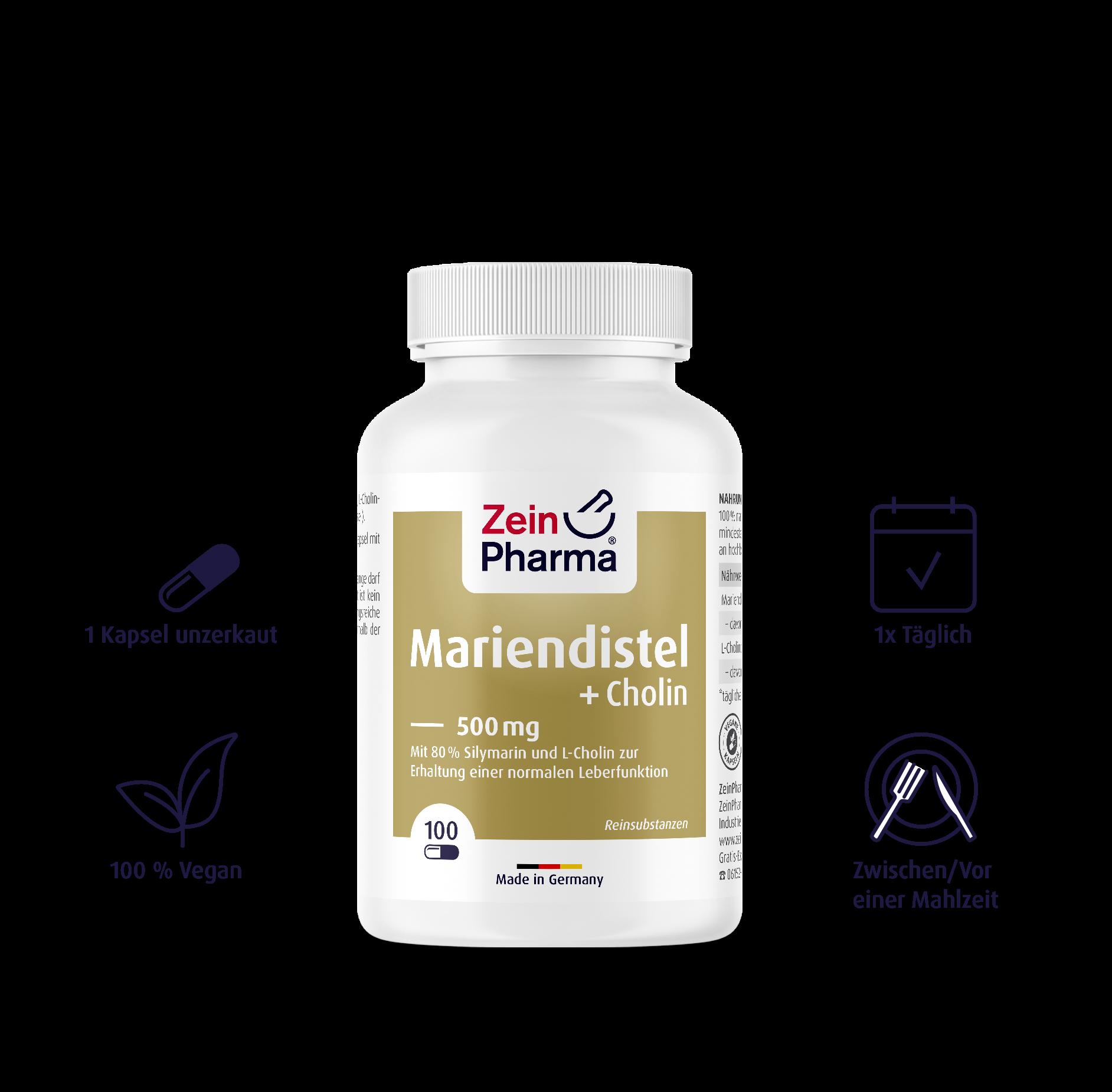 Mariendistel + Cholin Kapseln 500 mg