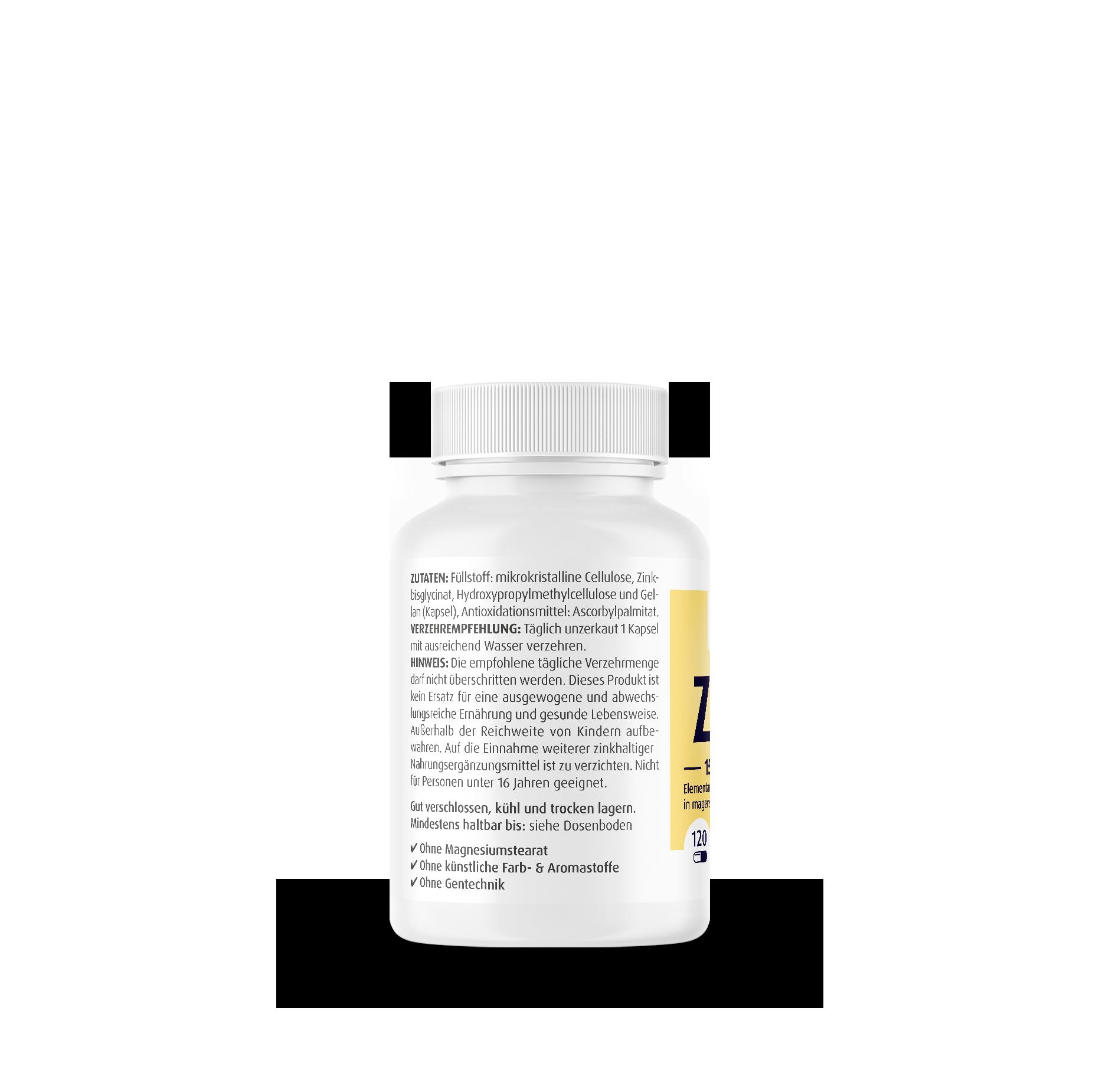 Zink Glycinat 15 mg Kapseln