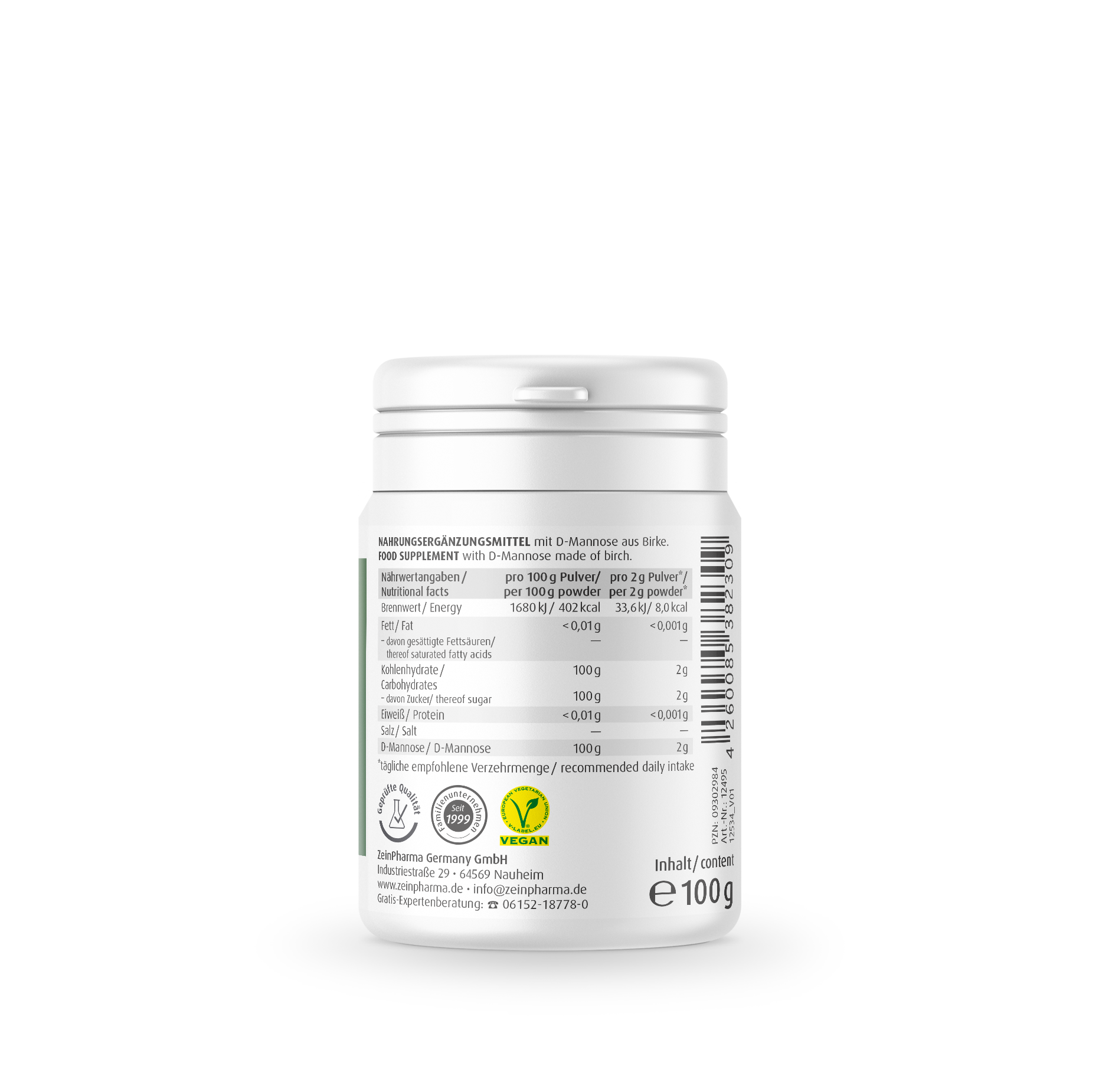 Natural D-Mannose Pulver