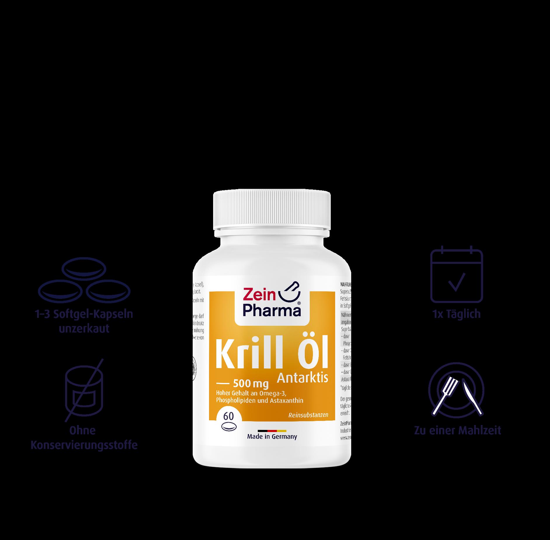 Krill Öl Antarktis Softgel-Kapseln 500 mg