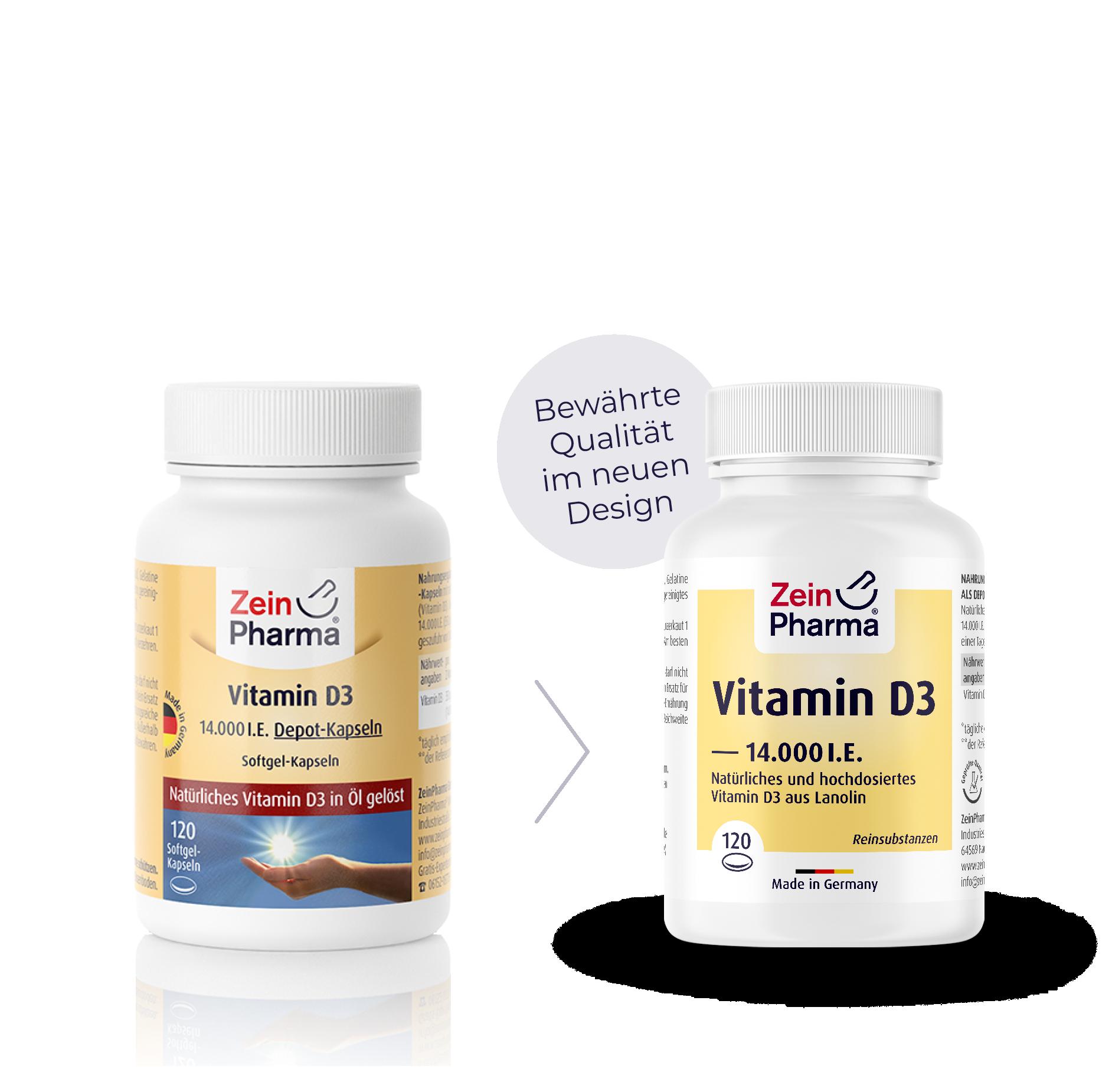 Vitamin D3 14.000 I.E. Kapseln