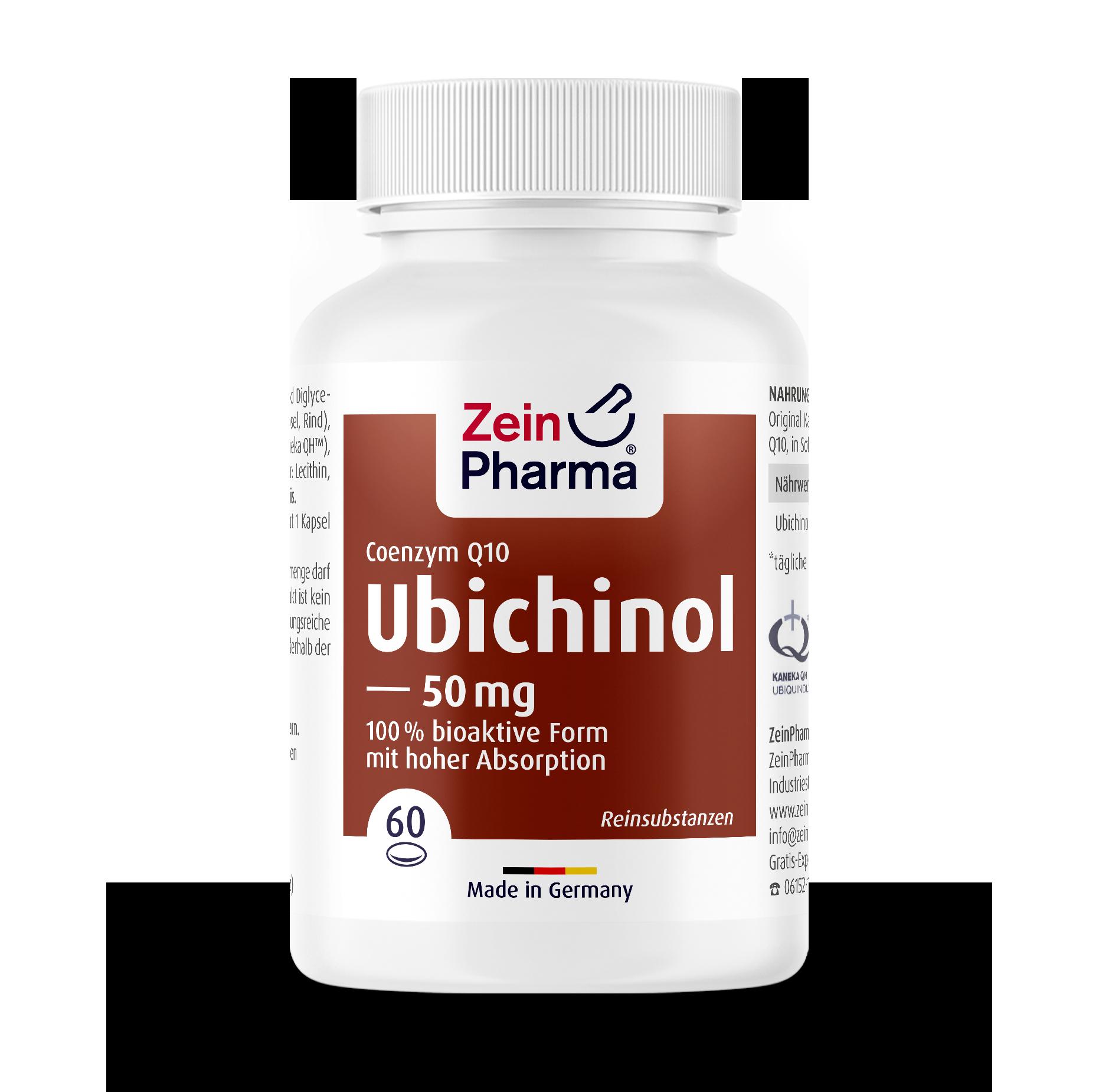 Coenzym Q10 Ubichinol 50 mg Kapseln