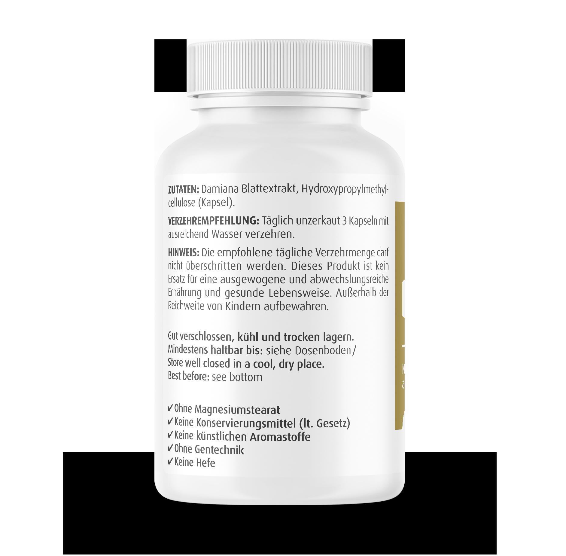 Damiana Kapseln 450 mg