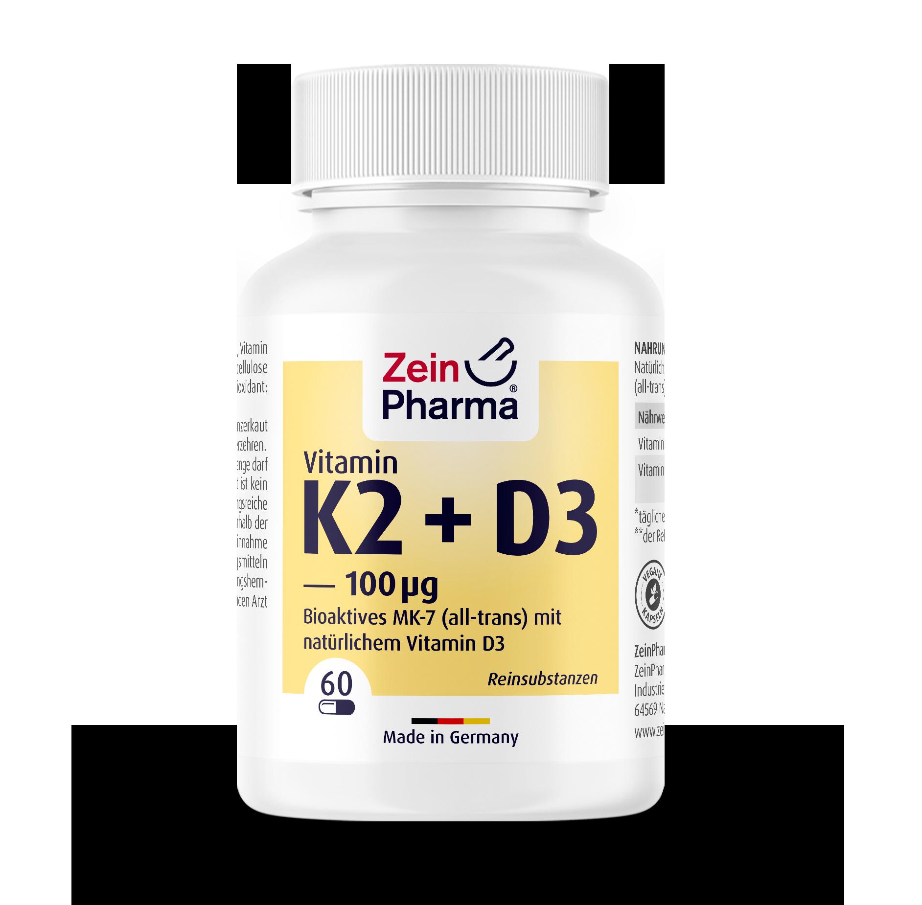 Vitamin K2 + D3 Kapseln