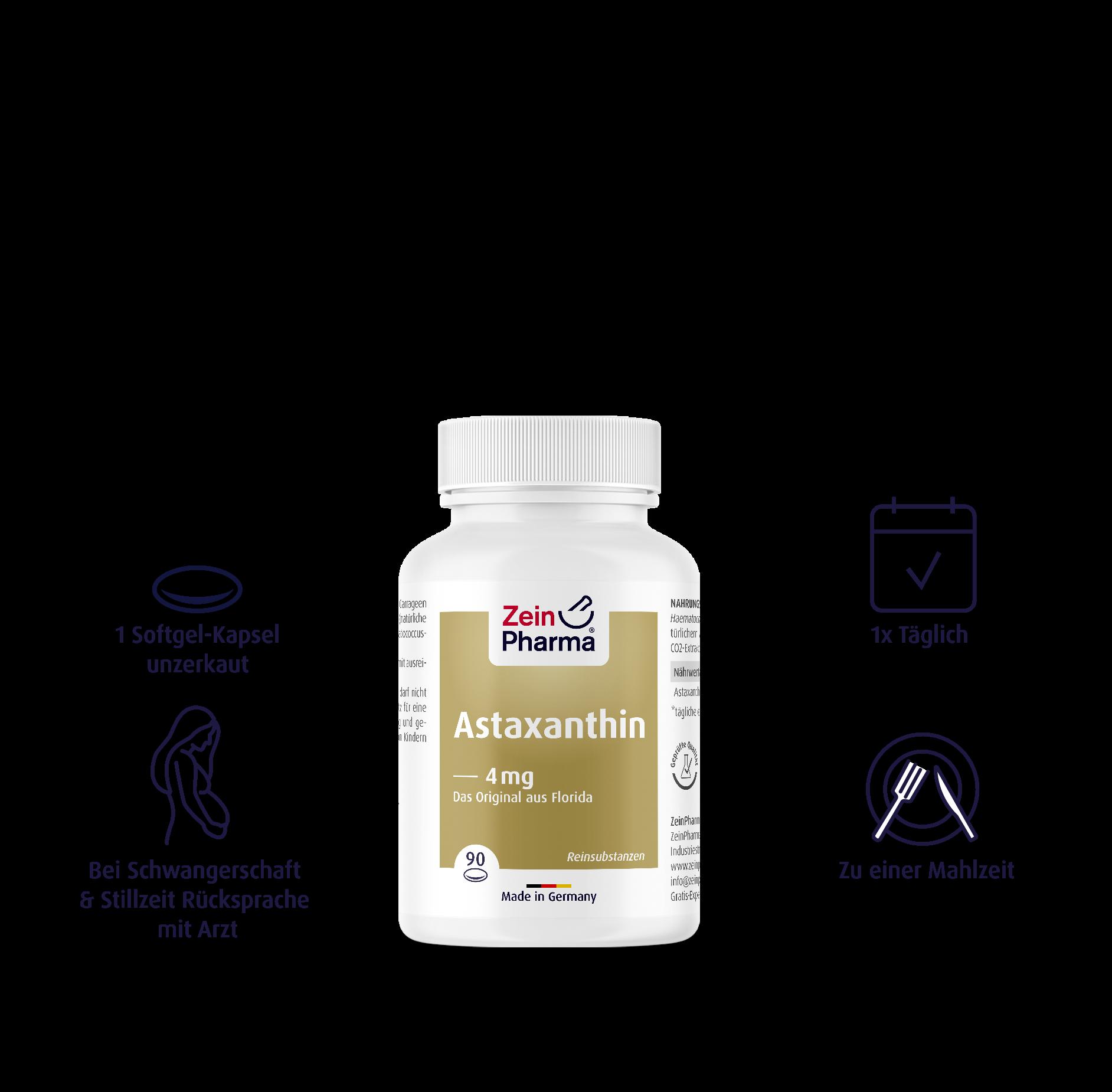 Astaxanthin Softgel-Kapseln 4 mg