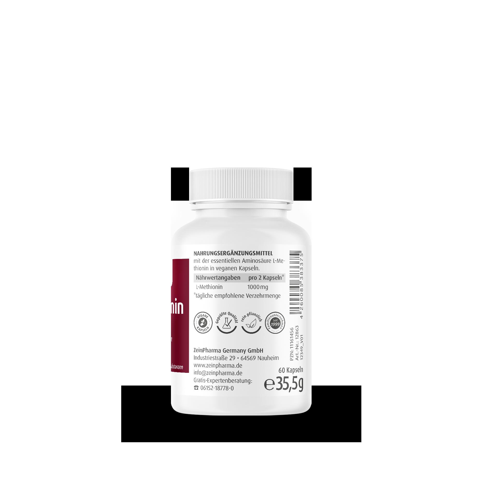 L-Methionin 500 mg