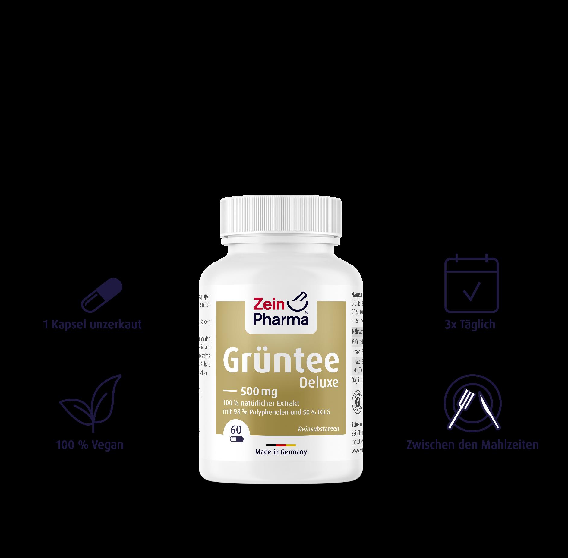 Grüntee Deluxe Kapseln 500 mg