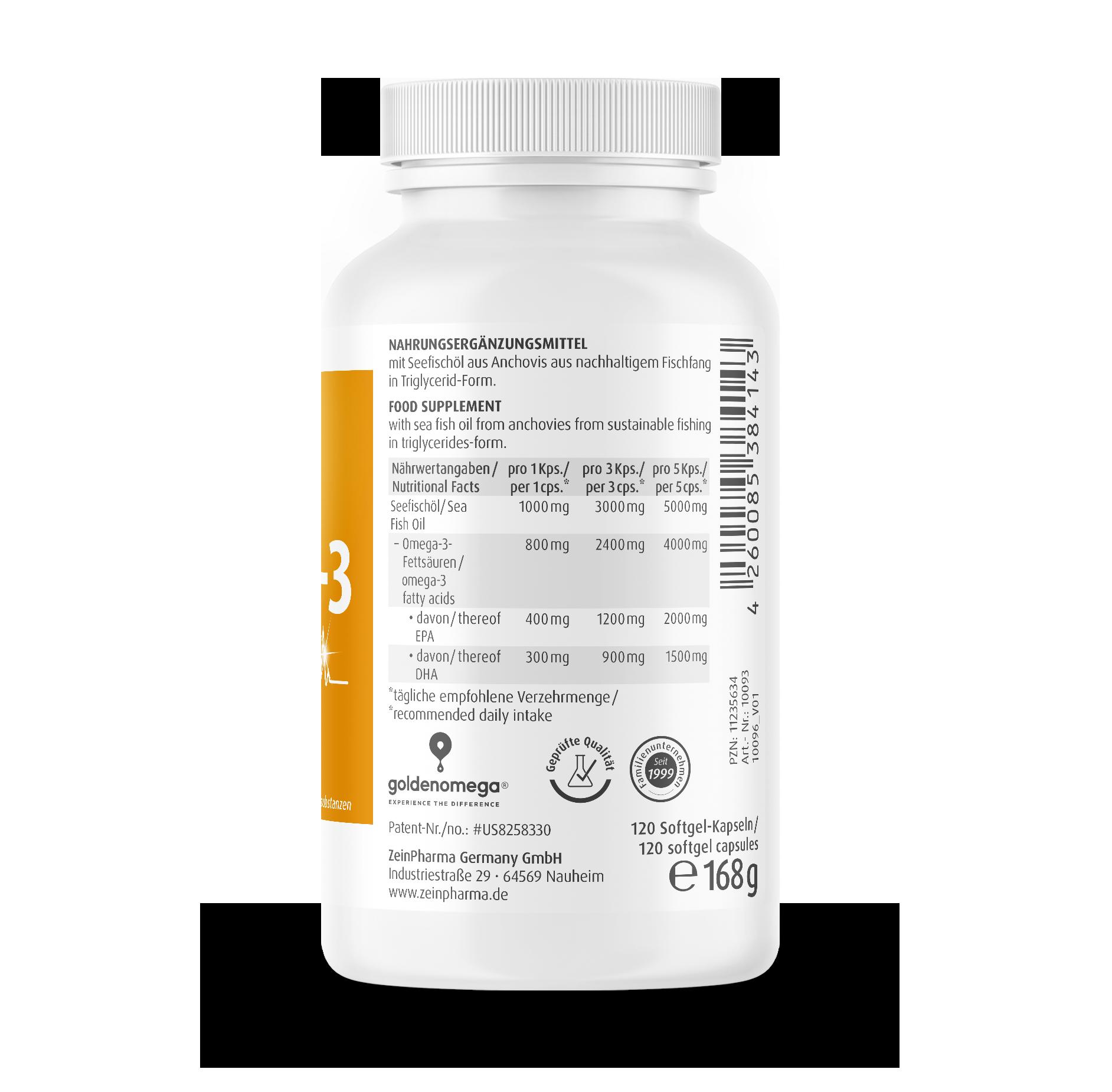 Omega-3 Gold Kapseln - Cardio Edition