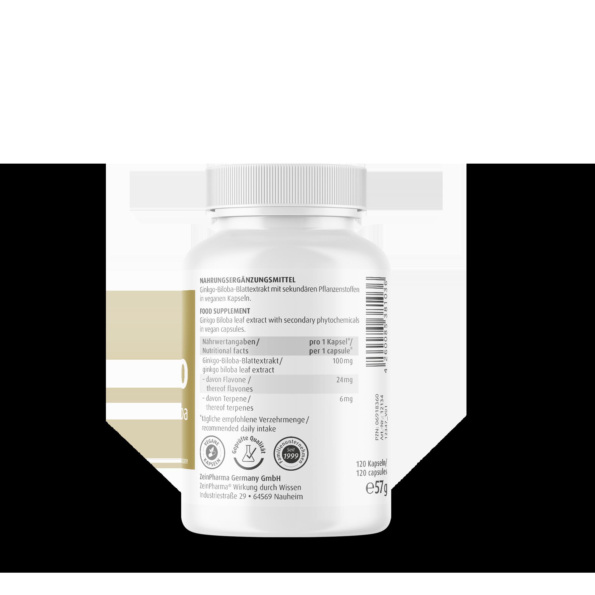 Ginkgo Biloba 100 mg