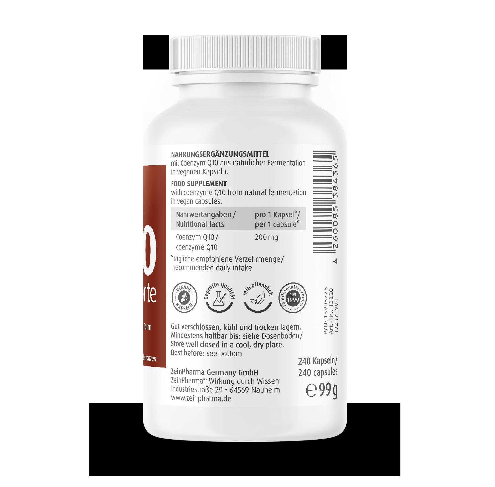 Coenzym Q10 Forte Kapseln 200 mg
