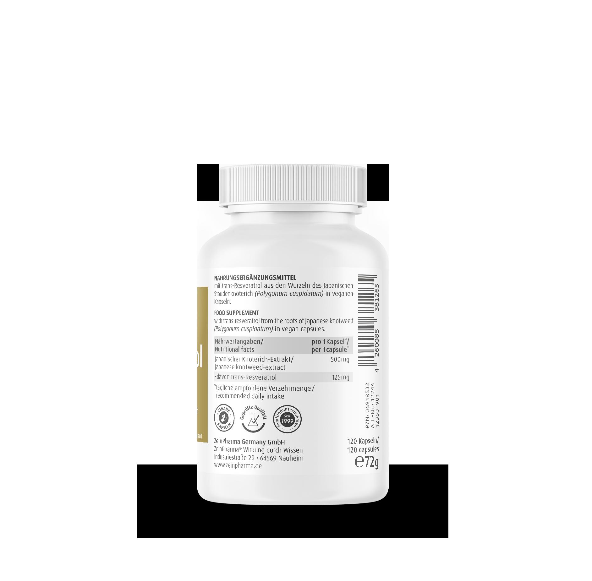 Resveratrol  125 mg