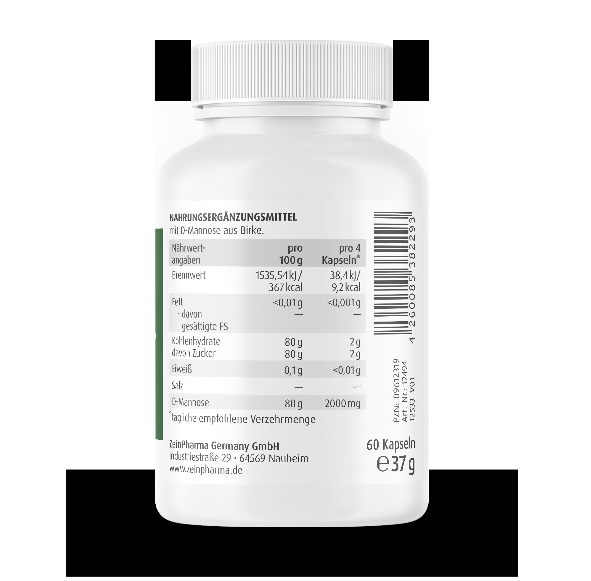 Natural D-Mannose Kapseln