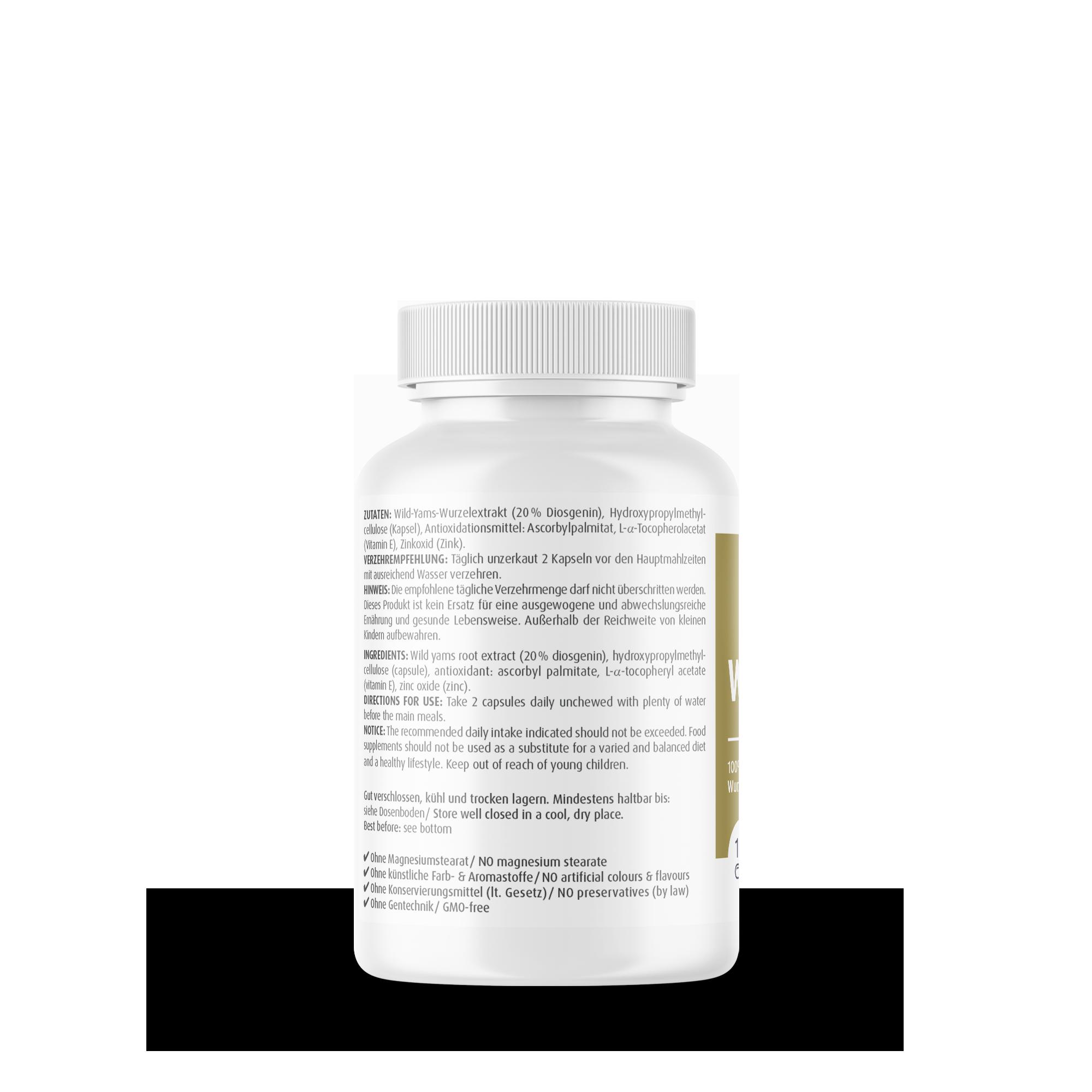 Wild Yams Plus 500 mg
