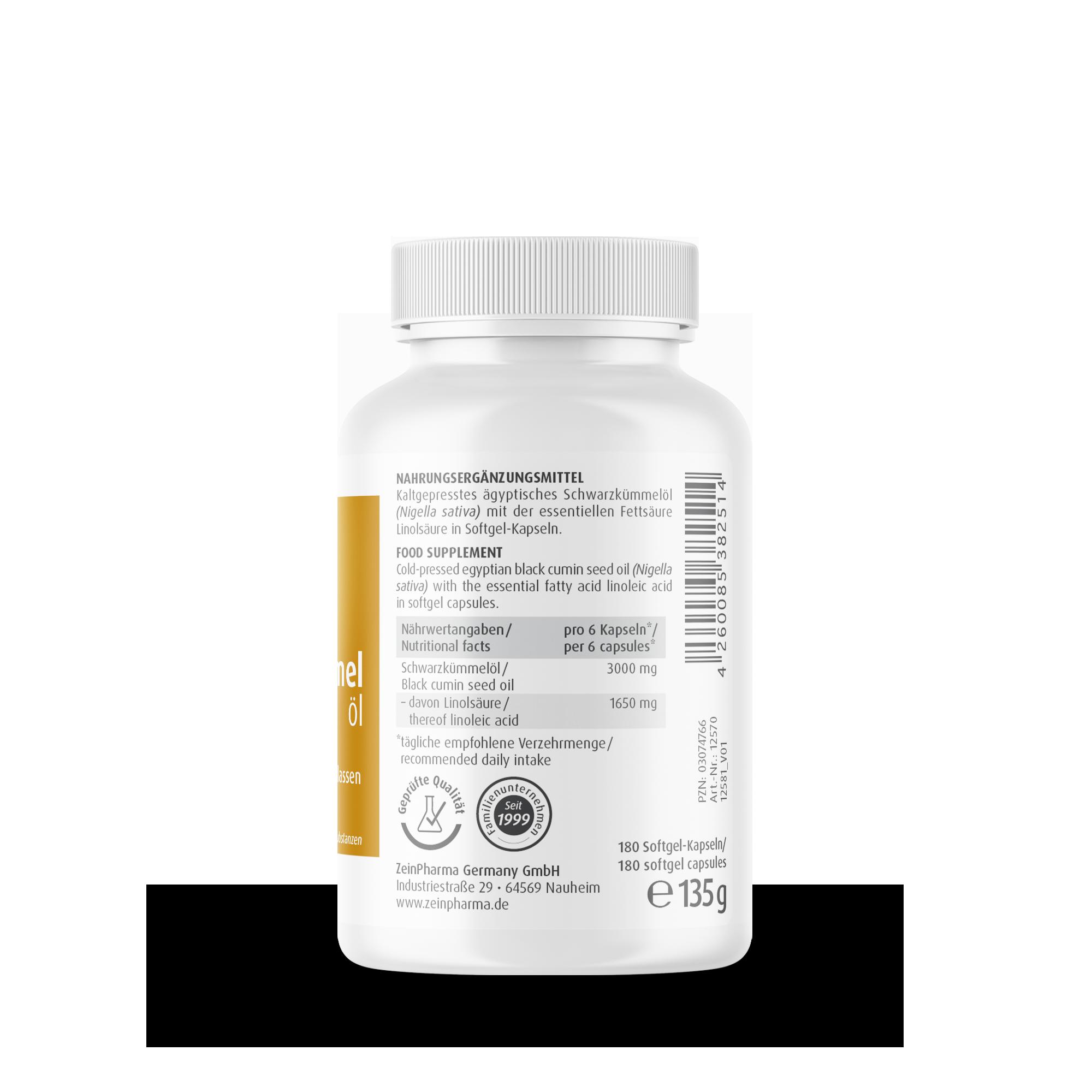 Ägyptisches Schwarzkümmelöl 500 mg