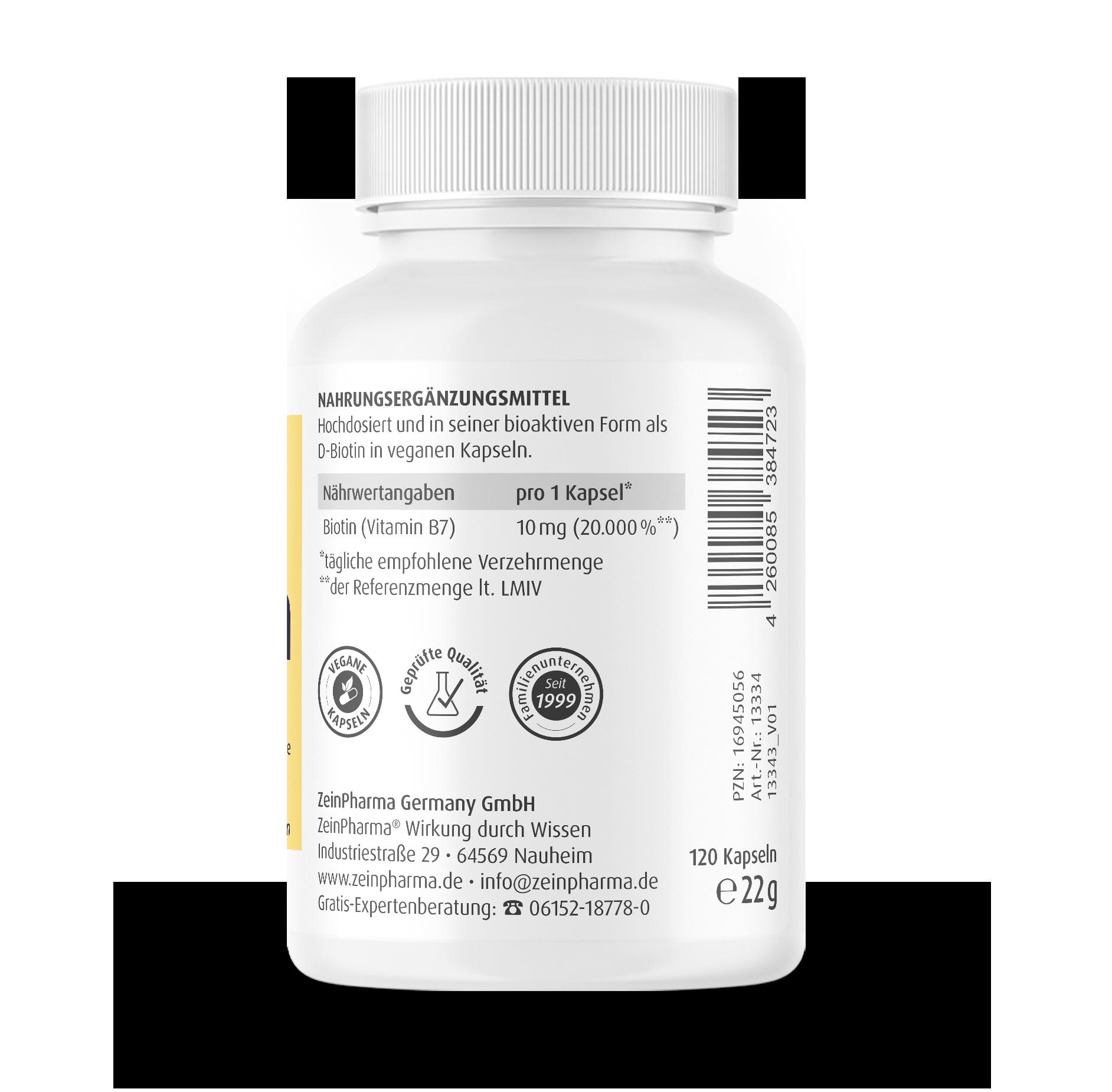 Biotin Kapseln 10 mg