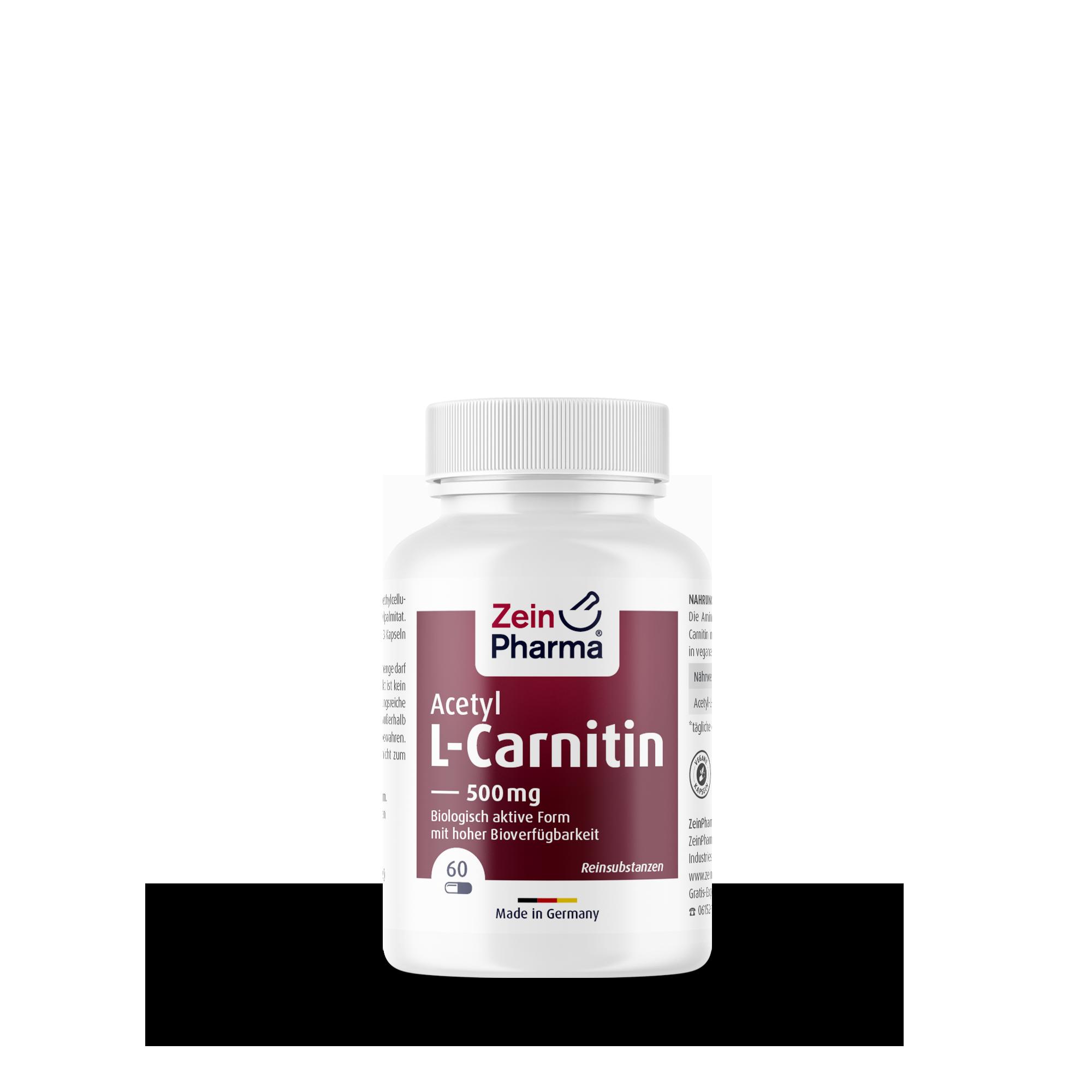 Acetyl-L-Carnitin 500 mg