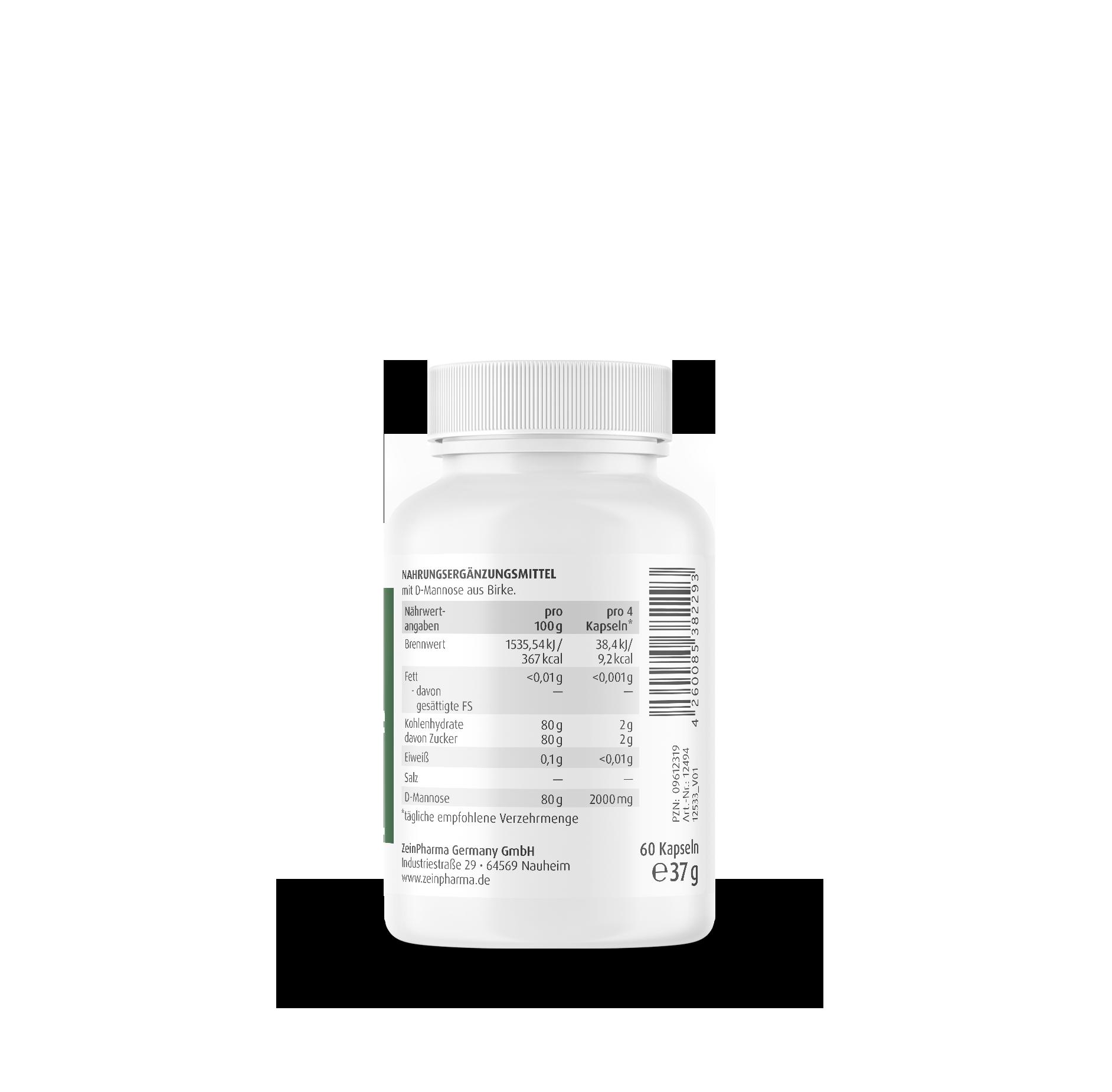 Natural D-Mannose 500 mg