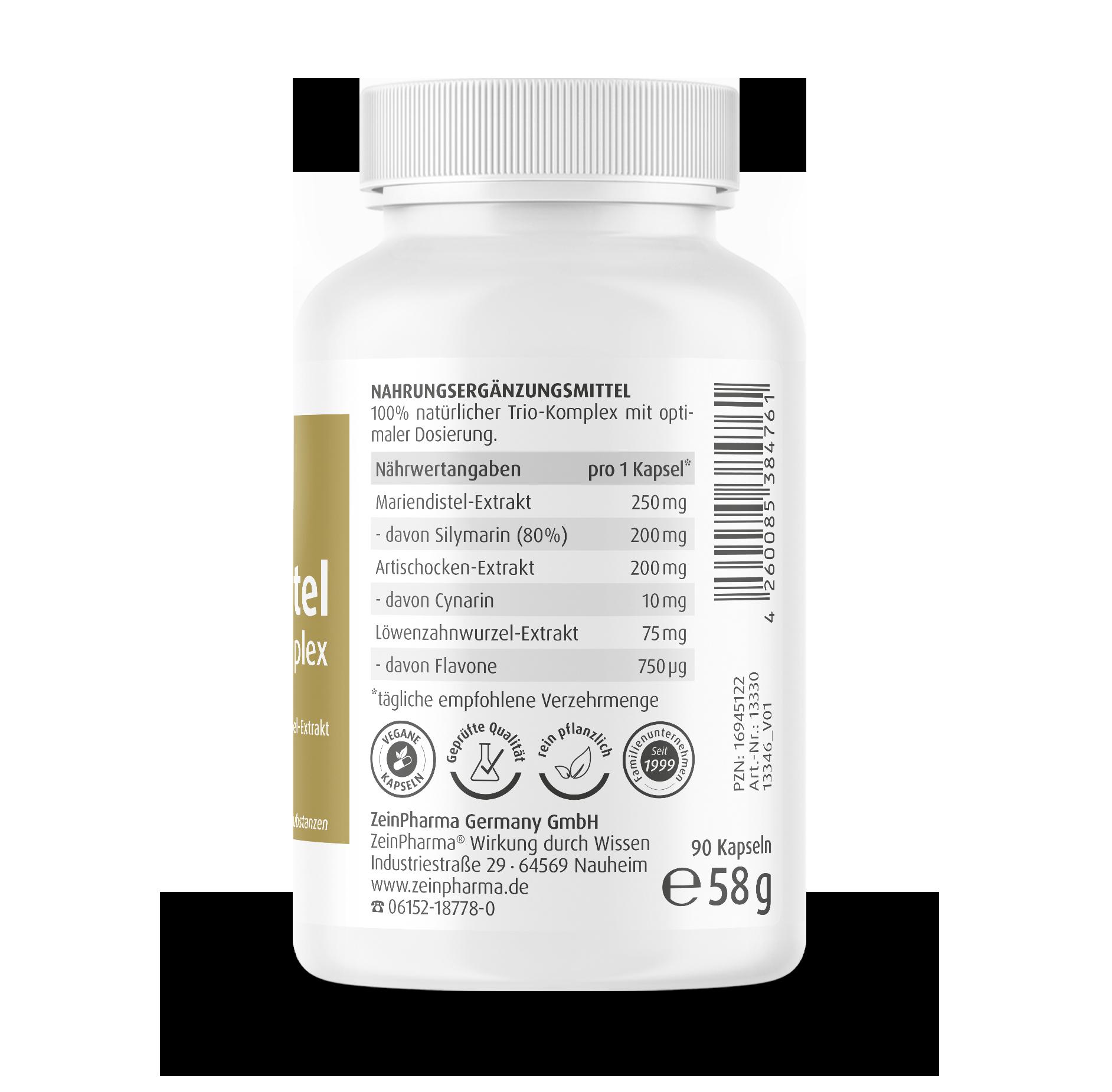 Mariendistel Komplex Kapseln 525 mg