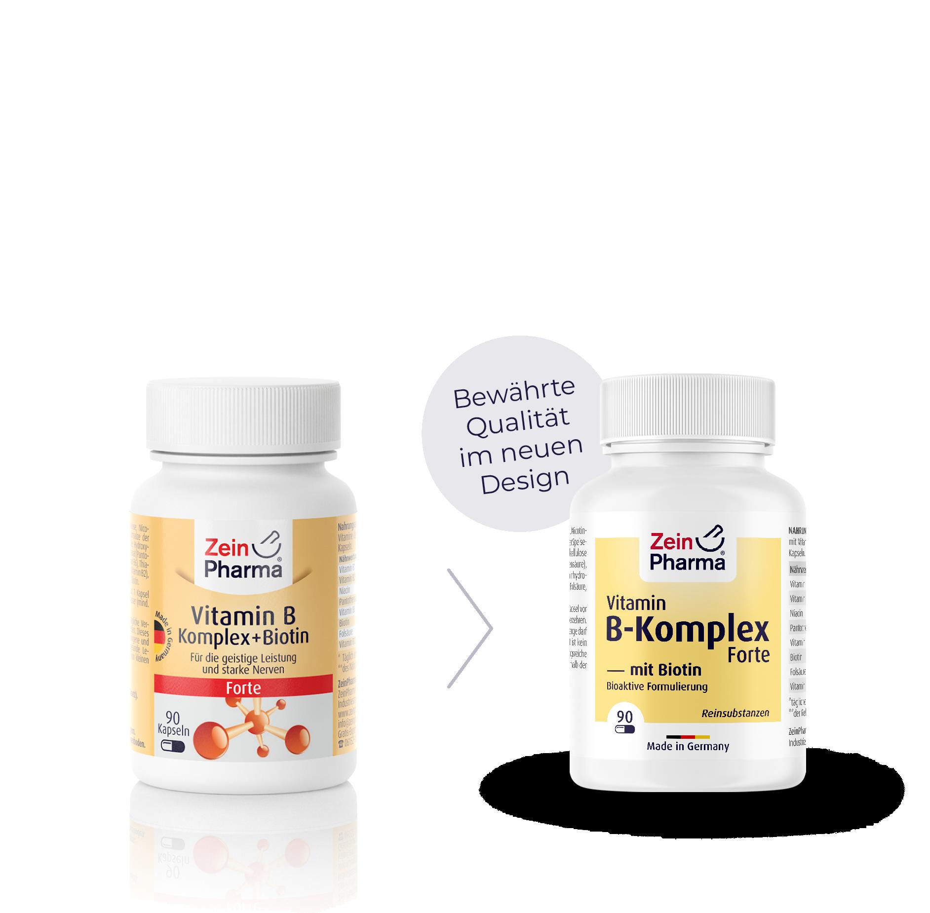 Vitamin B-Komplex Forte  + Biotin Kapseln