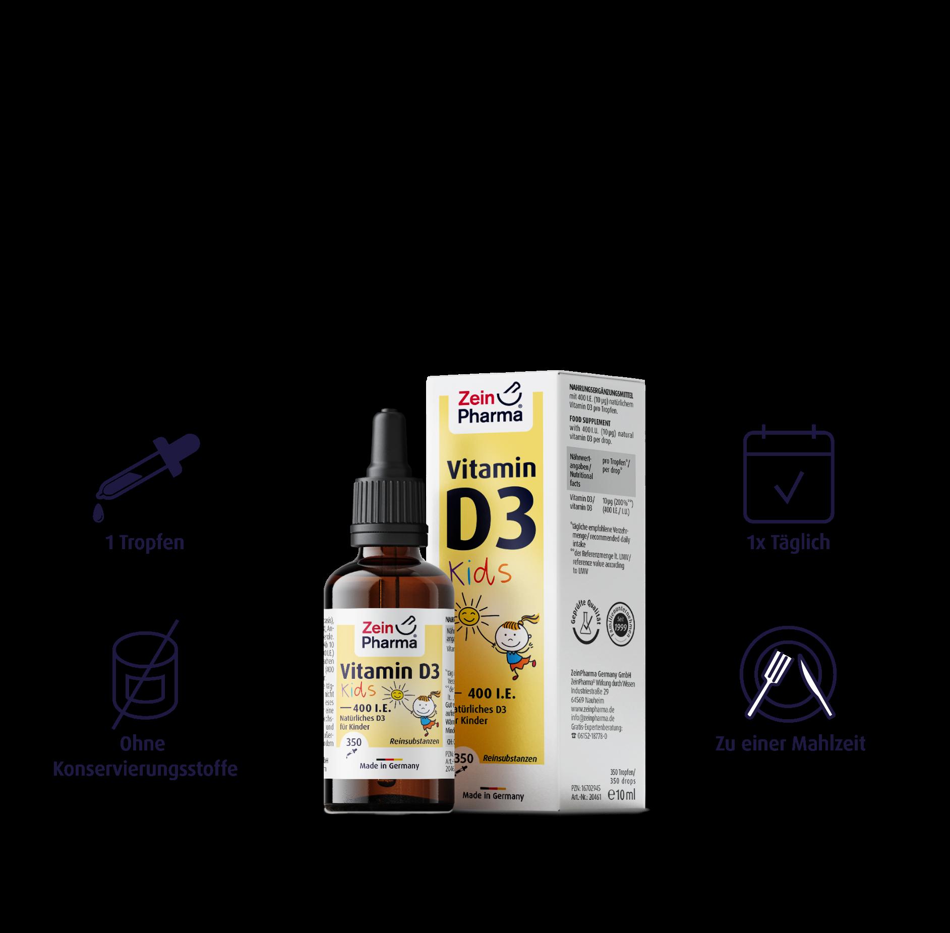 Vitamin D3 Tropfen für Kinder 400 I.E.