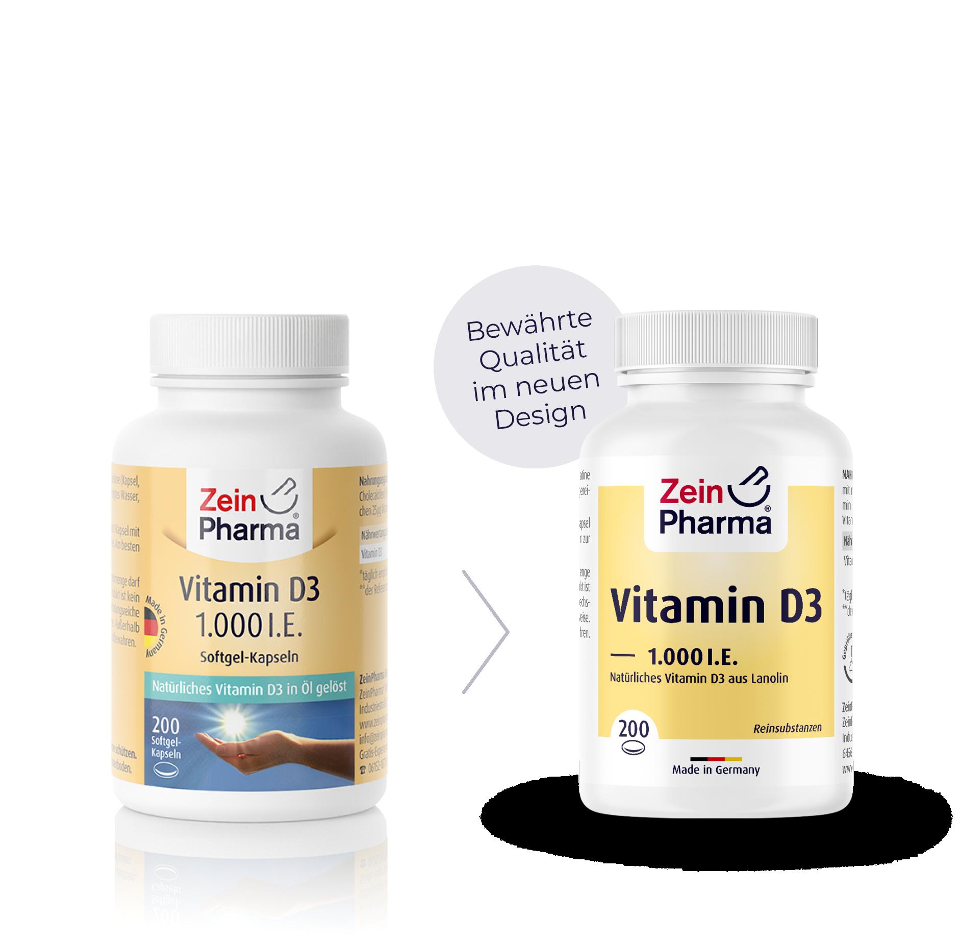 Vitamin D3 1.000 I.E. Softgel-Kapseln