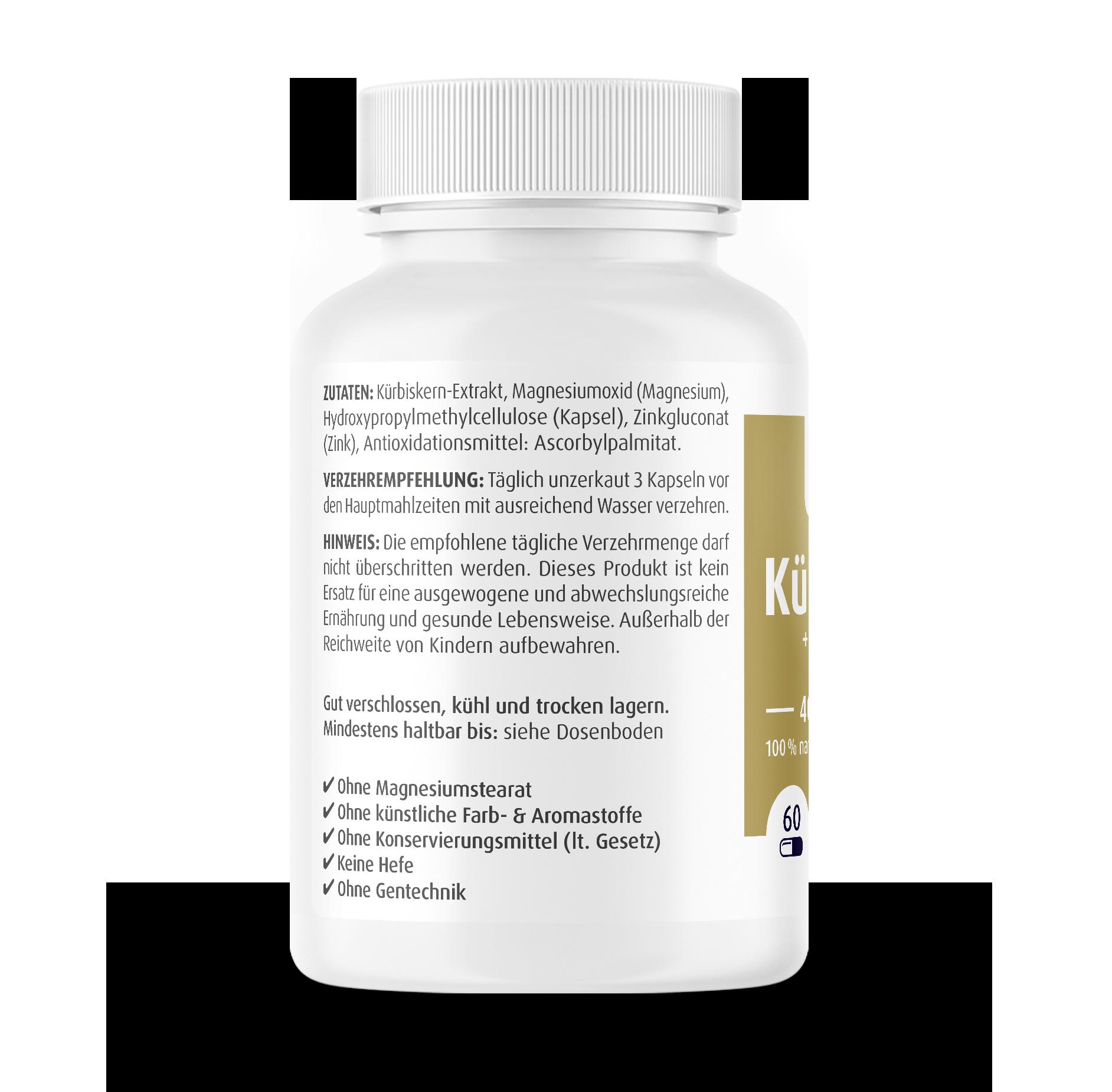 Kürbiskern Kapseln 400 mg