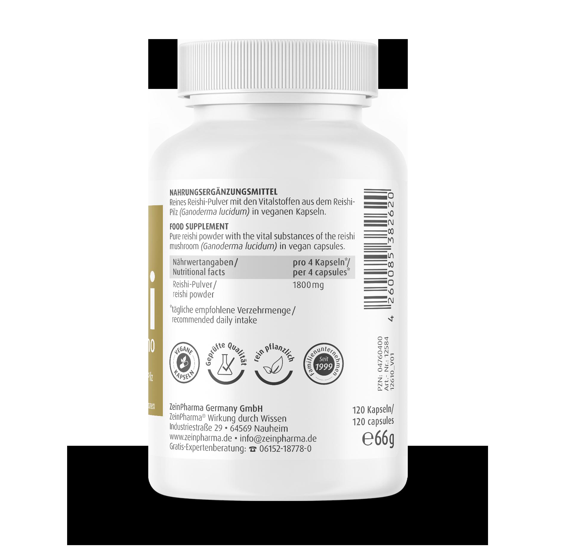 Reishi Mono Kapseln 450 mg