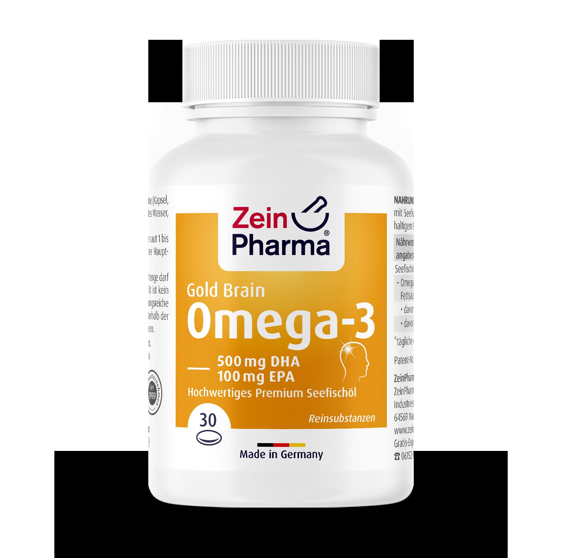 Omega-3 Gold Softgel-Kapseln - Brain Edition