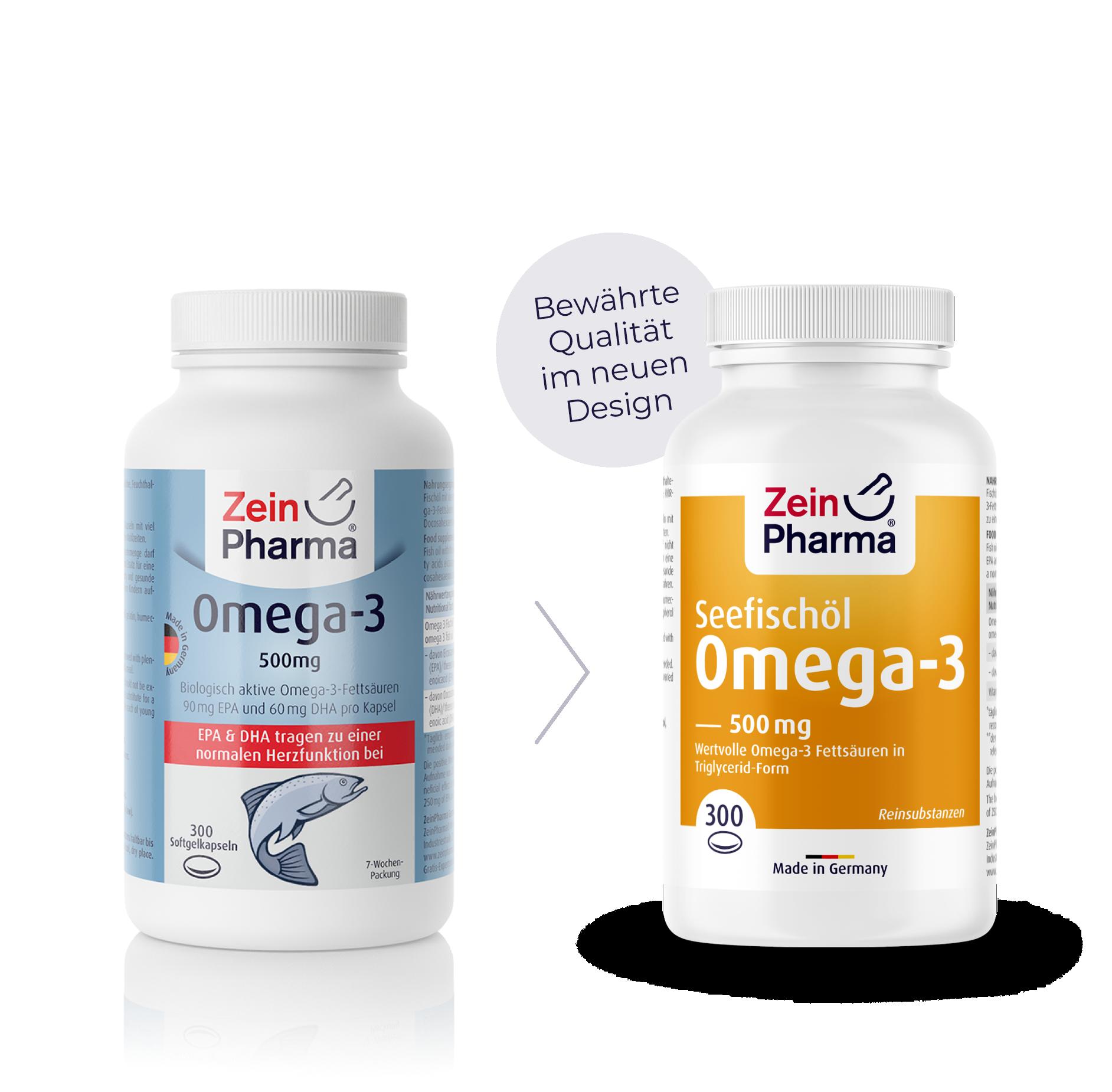 Omega-3 Seefischöl Softgel-Kapseln 500 mg
