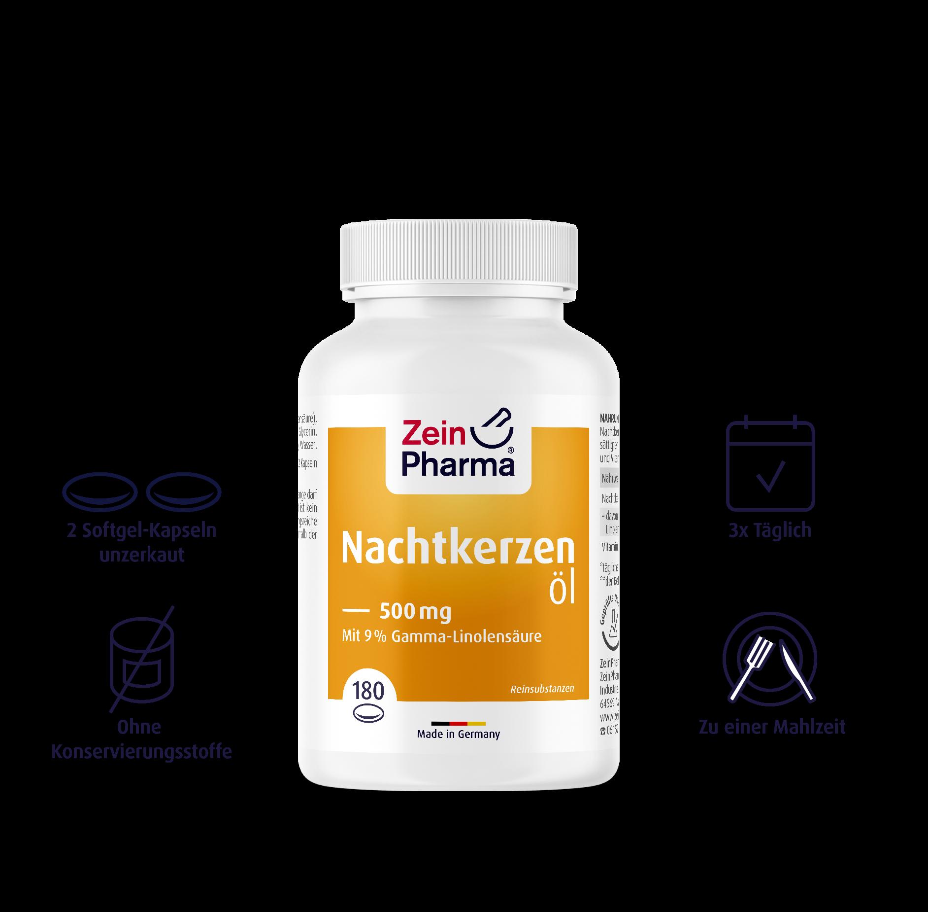 Nachtkerzenöl Softgel-Kapseln 500 mg