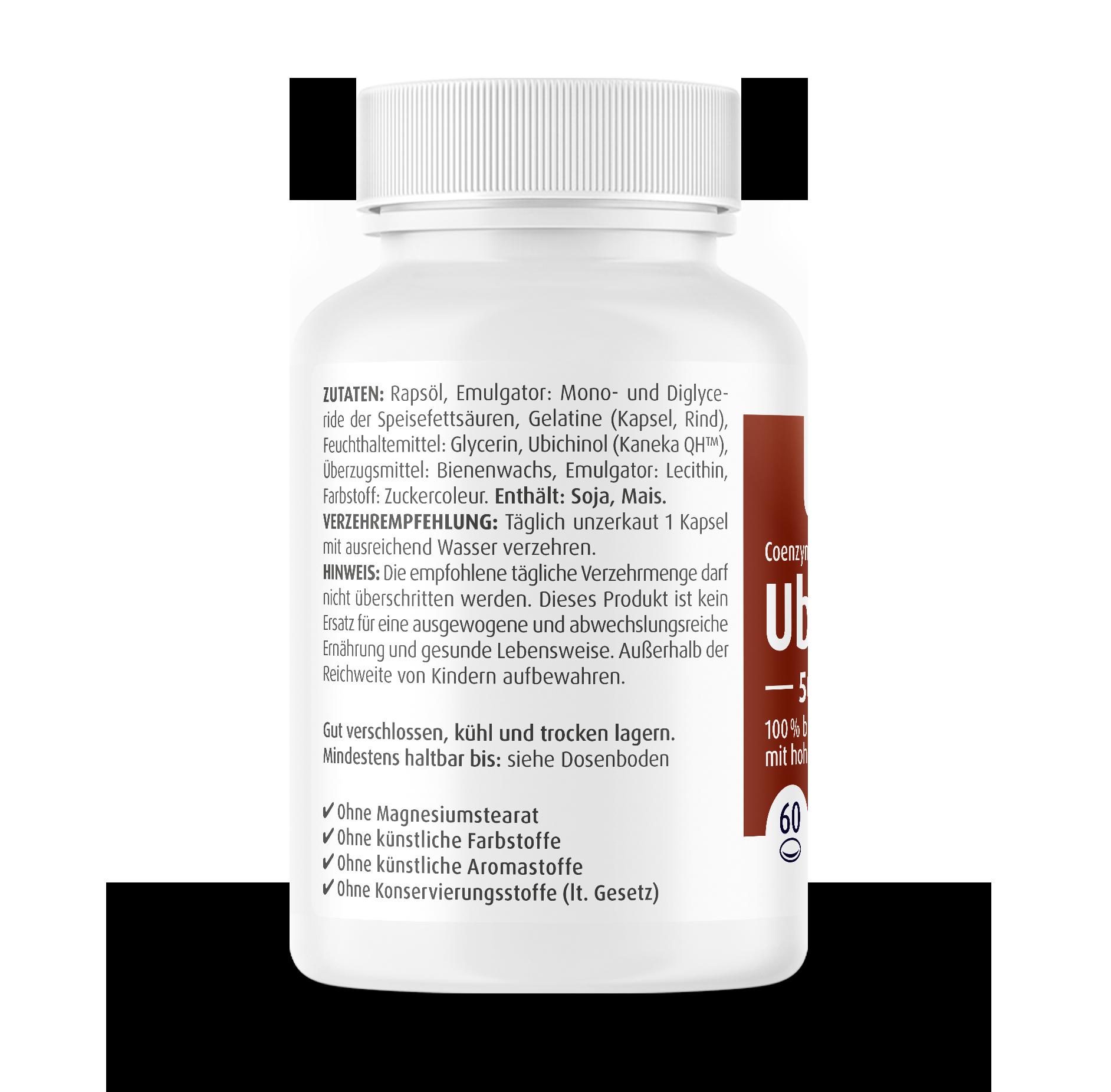 Coenzym Q10 Ubichinol Softgel-Kapseln 50 mg