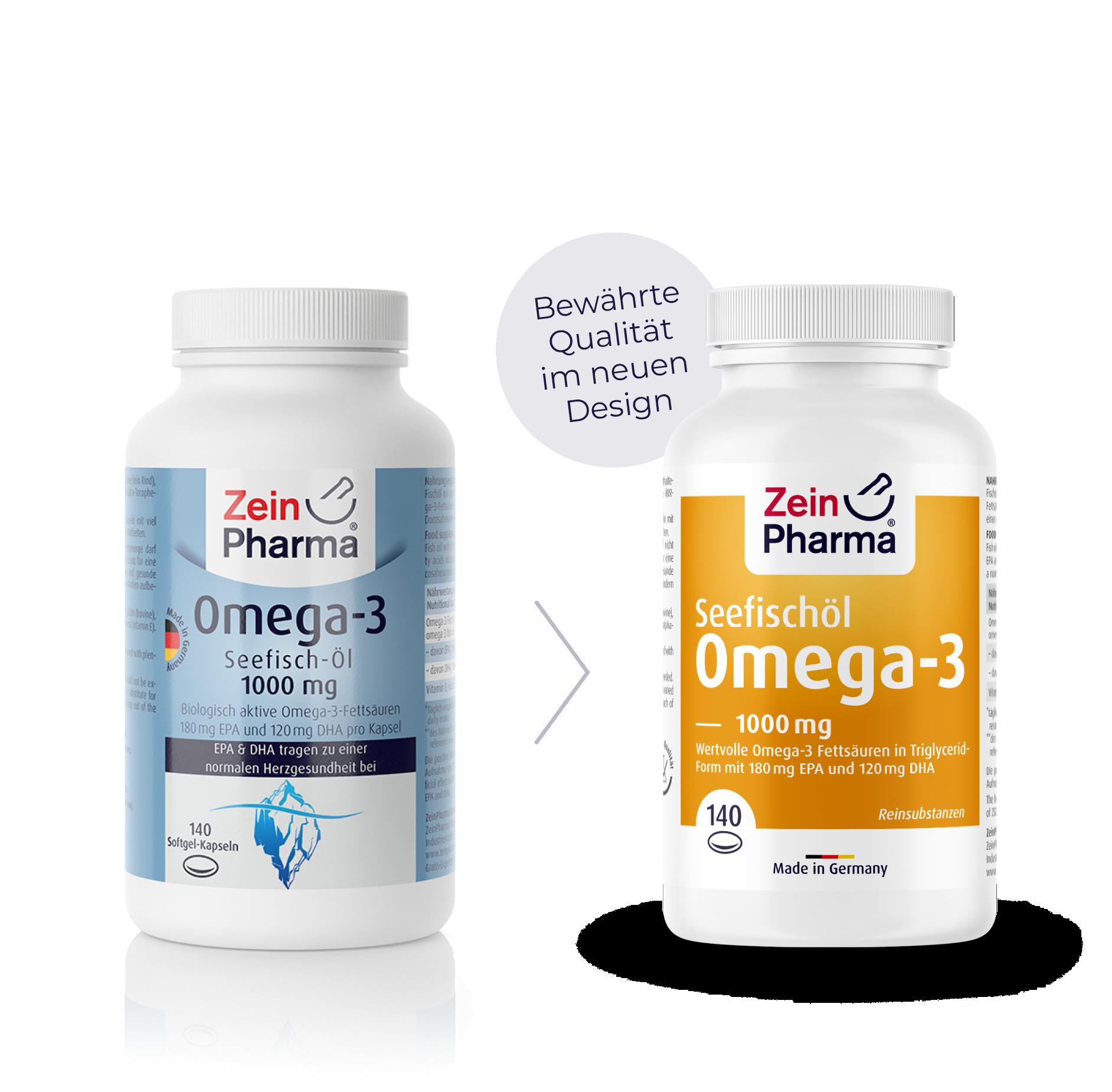 Omega-3 1000 mg Softgel-Kapseln