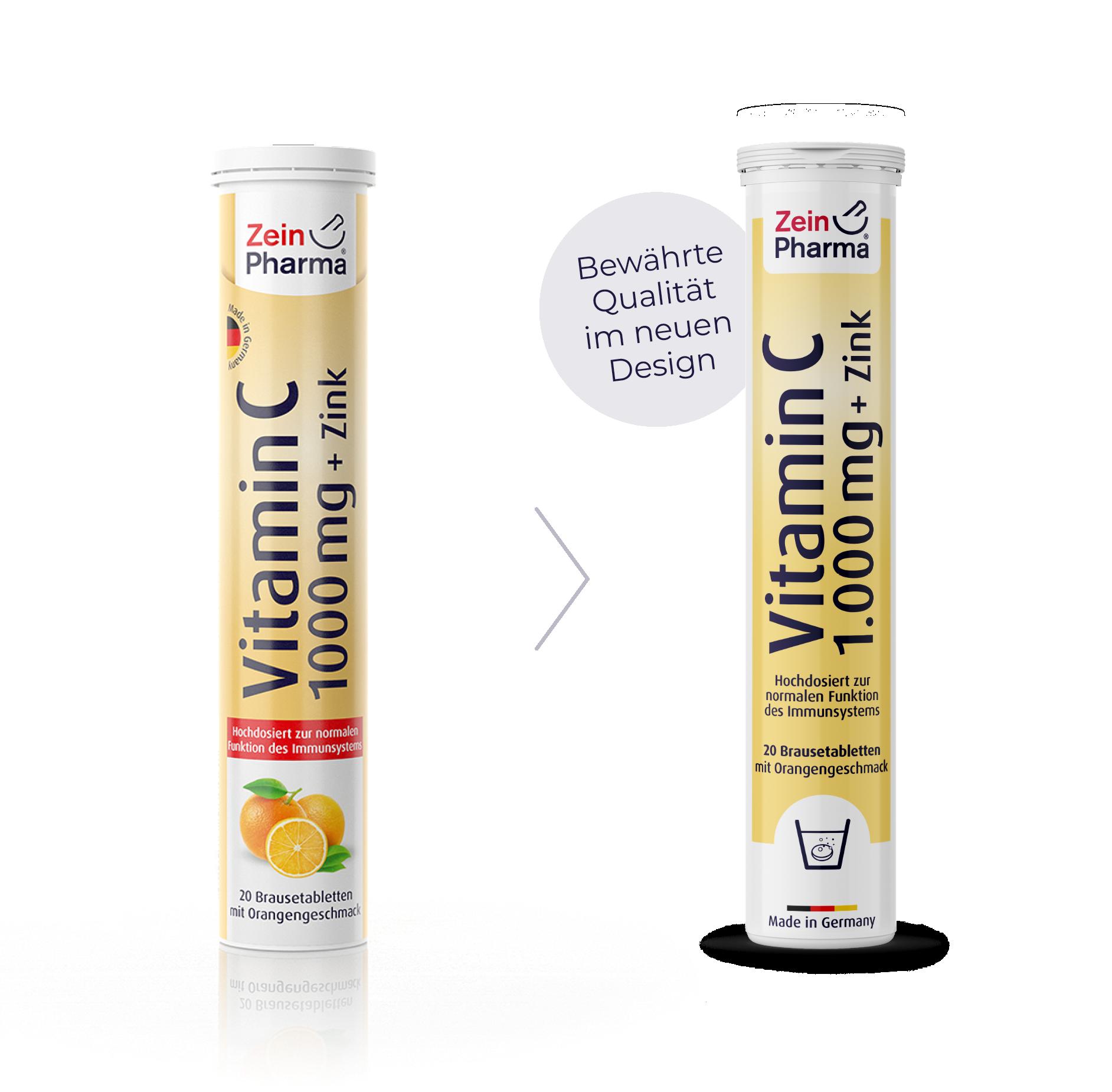 Vitamin C + Zink Brausetabletten 1.000 mg