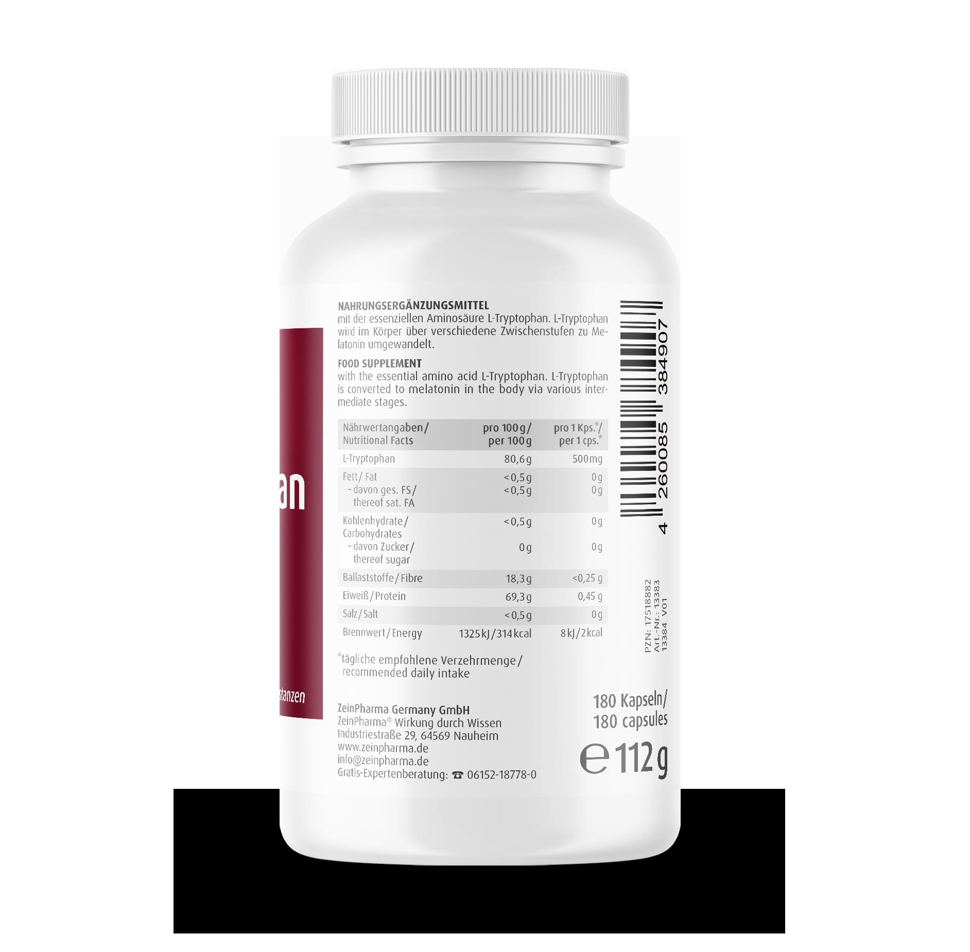 L-Tryptophan Kapseln 500 mg